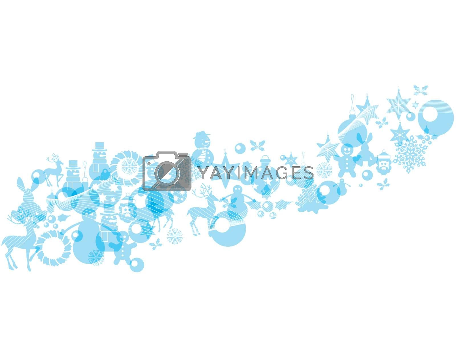 Royalty free image of The Christmas decorations on white background with copy space by nirots