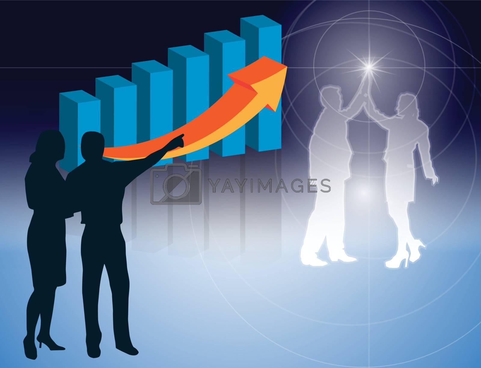 Backgrounds vector Business People Workforce