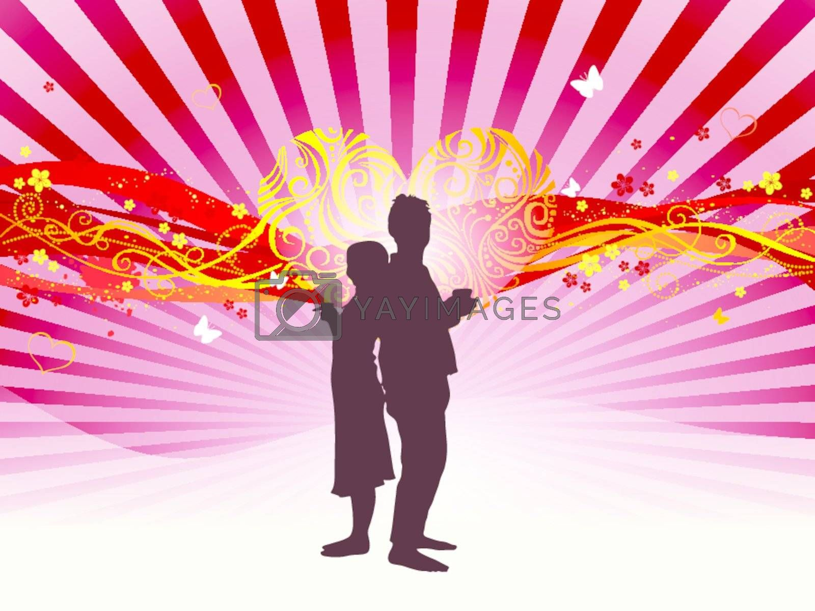 Backgrounds vector love