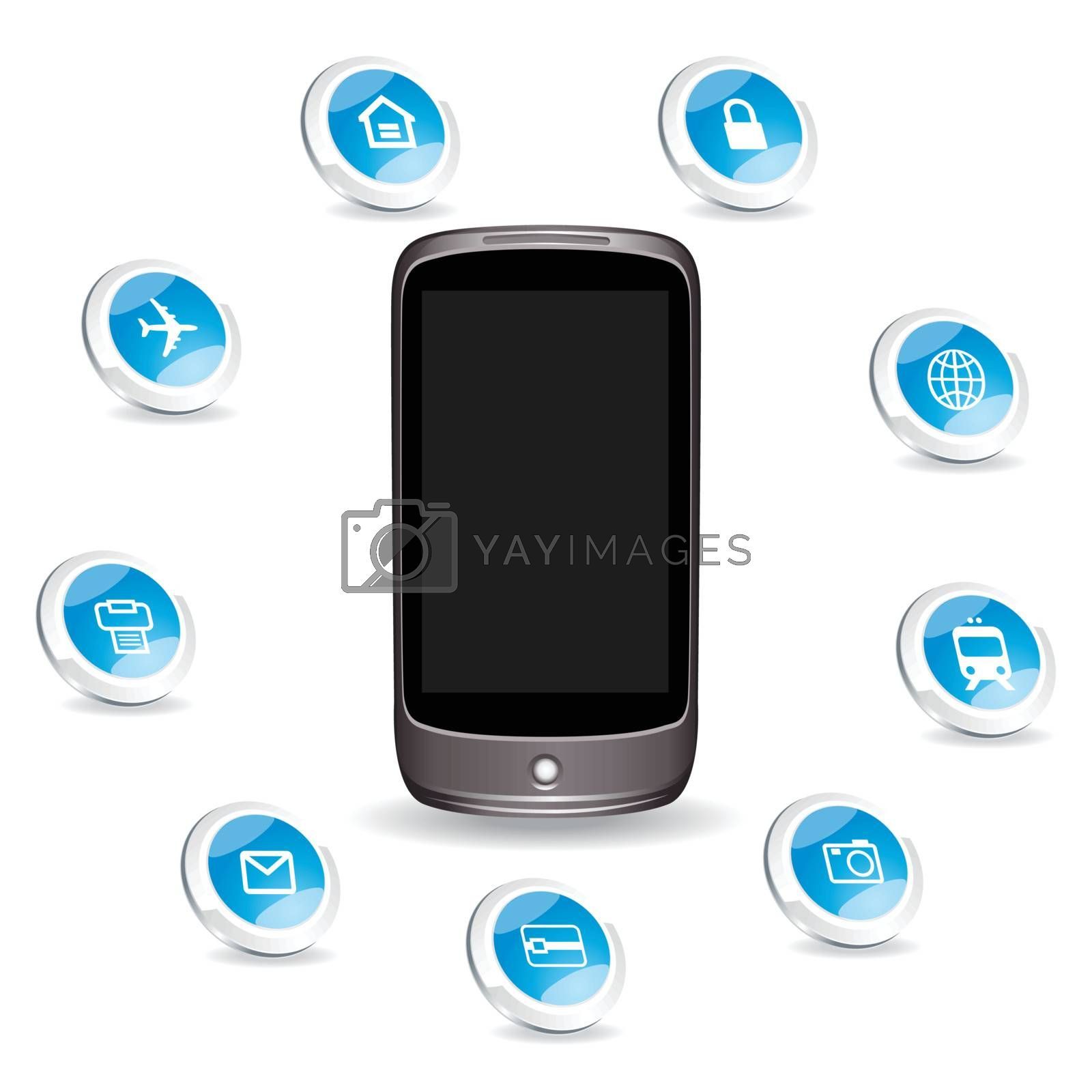 smart phone and any icons