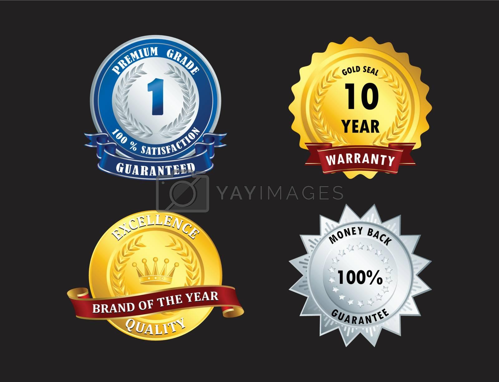 Achievement, approval, vintage, warranty, winner