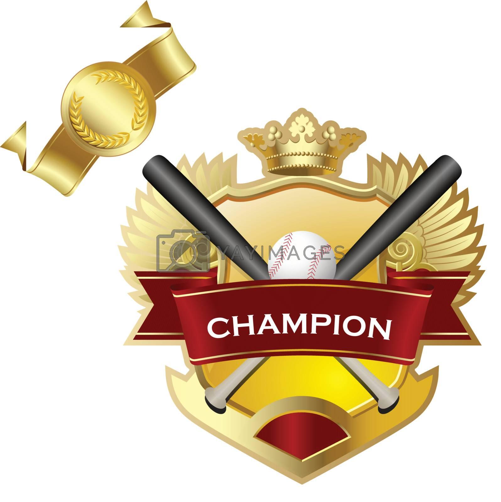 Emblem of sport champion Baseball