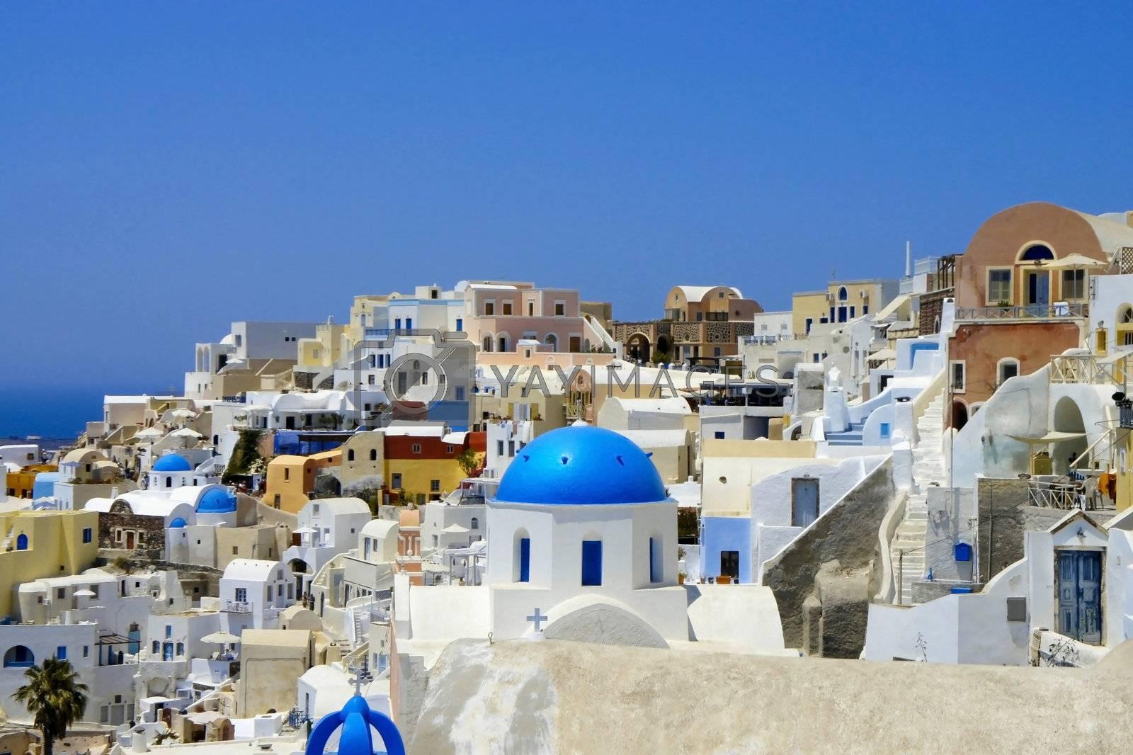 Amazing white houses of Santorini, Greece