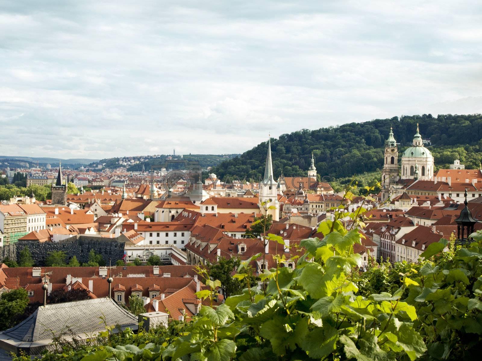 Panoramic view of the Prague, summer 2012