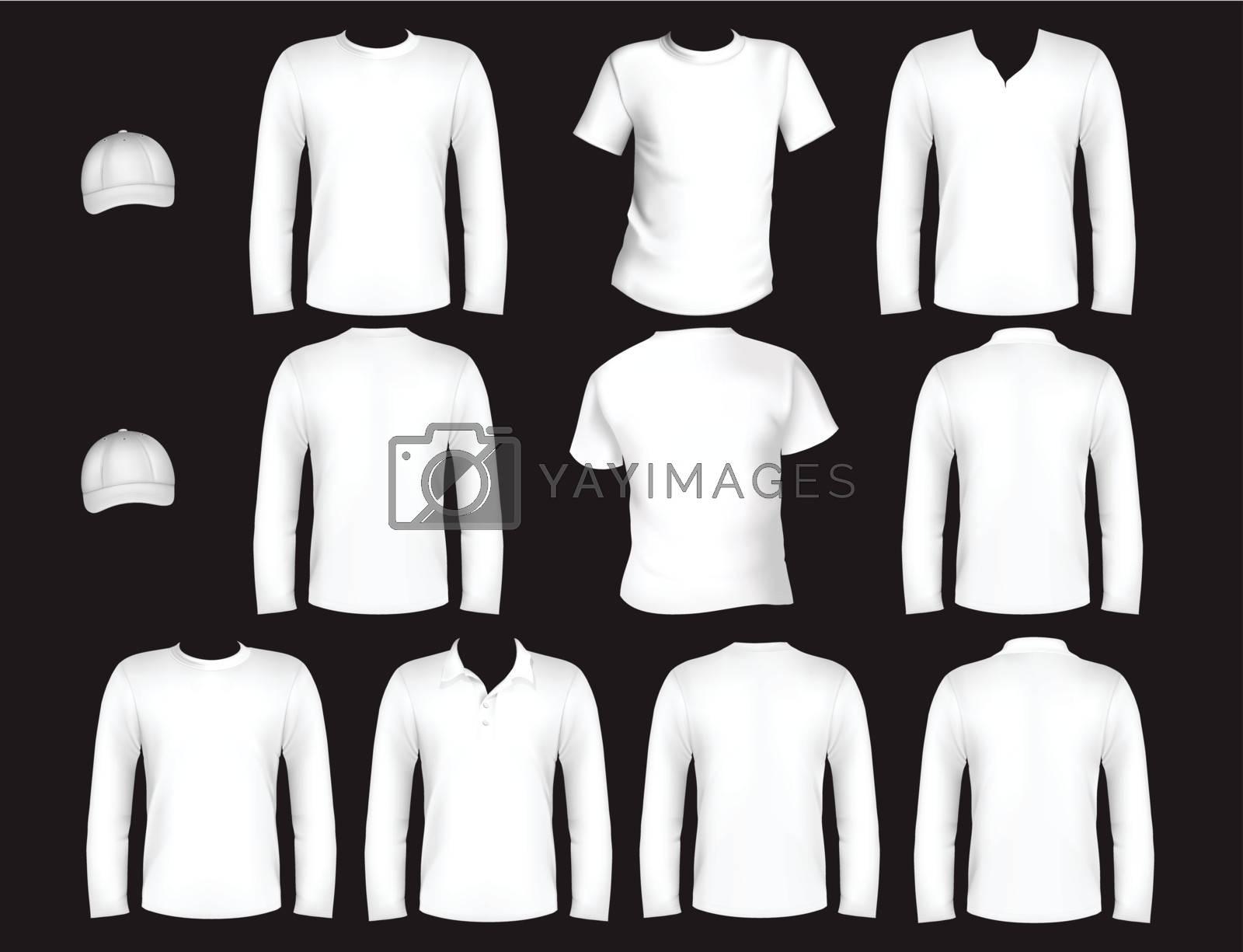 t-shirt design template and cap