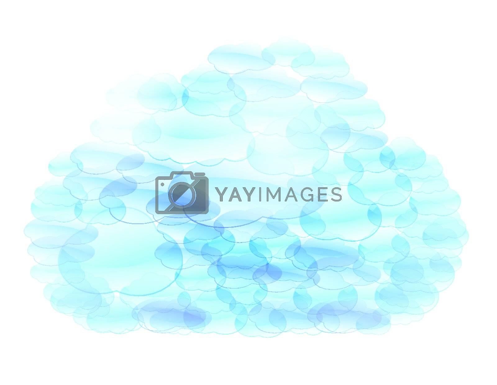 Blue cloud speech bubbles