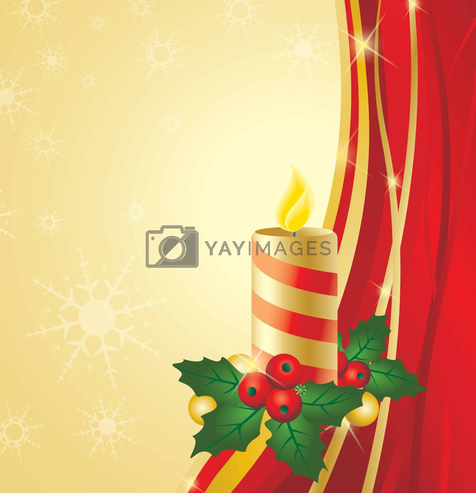 Background Christmas theme with candle