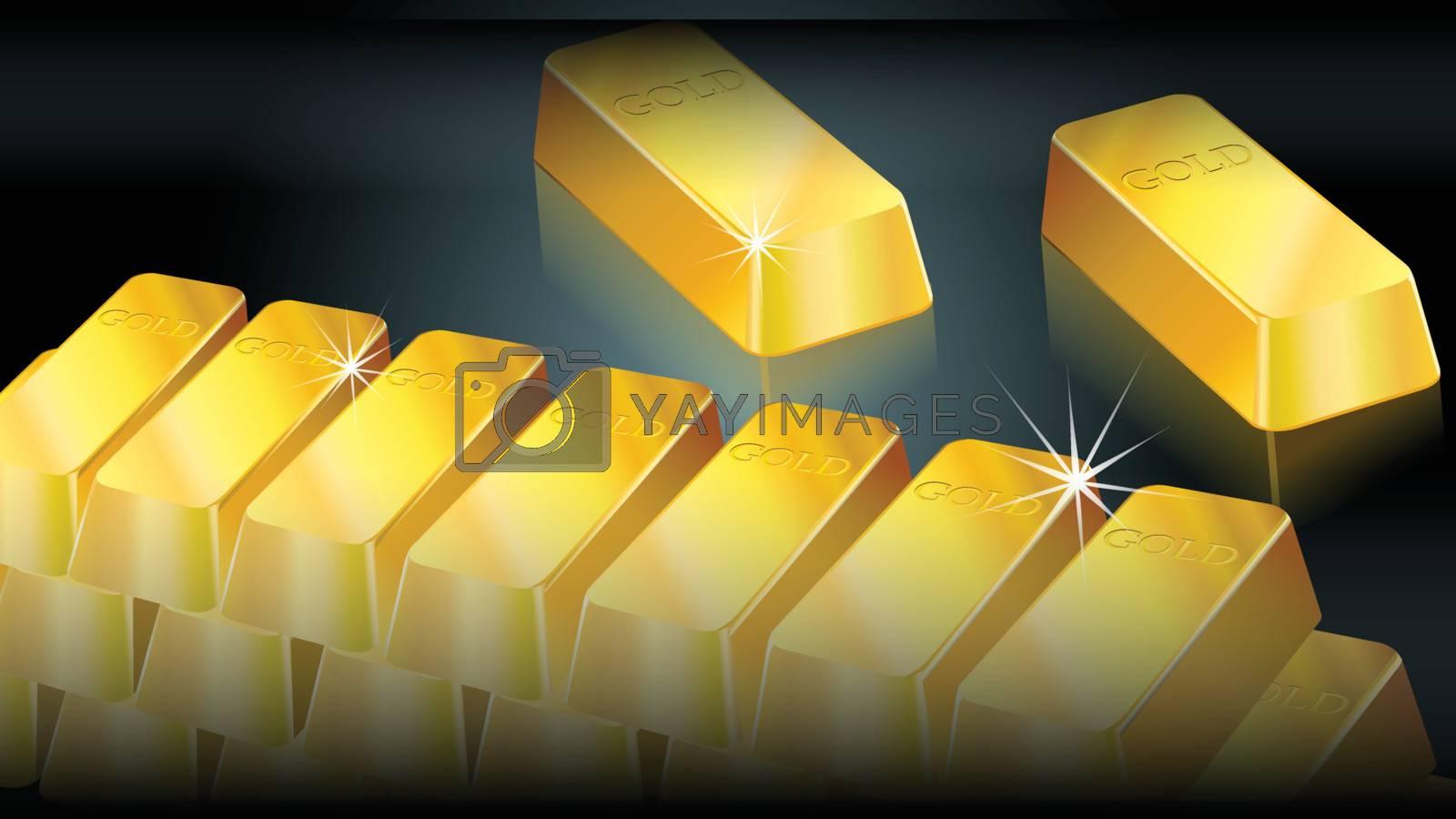 Gold bullion background