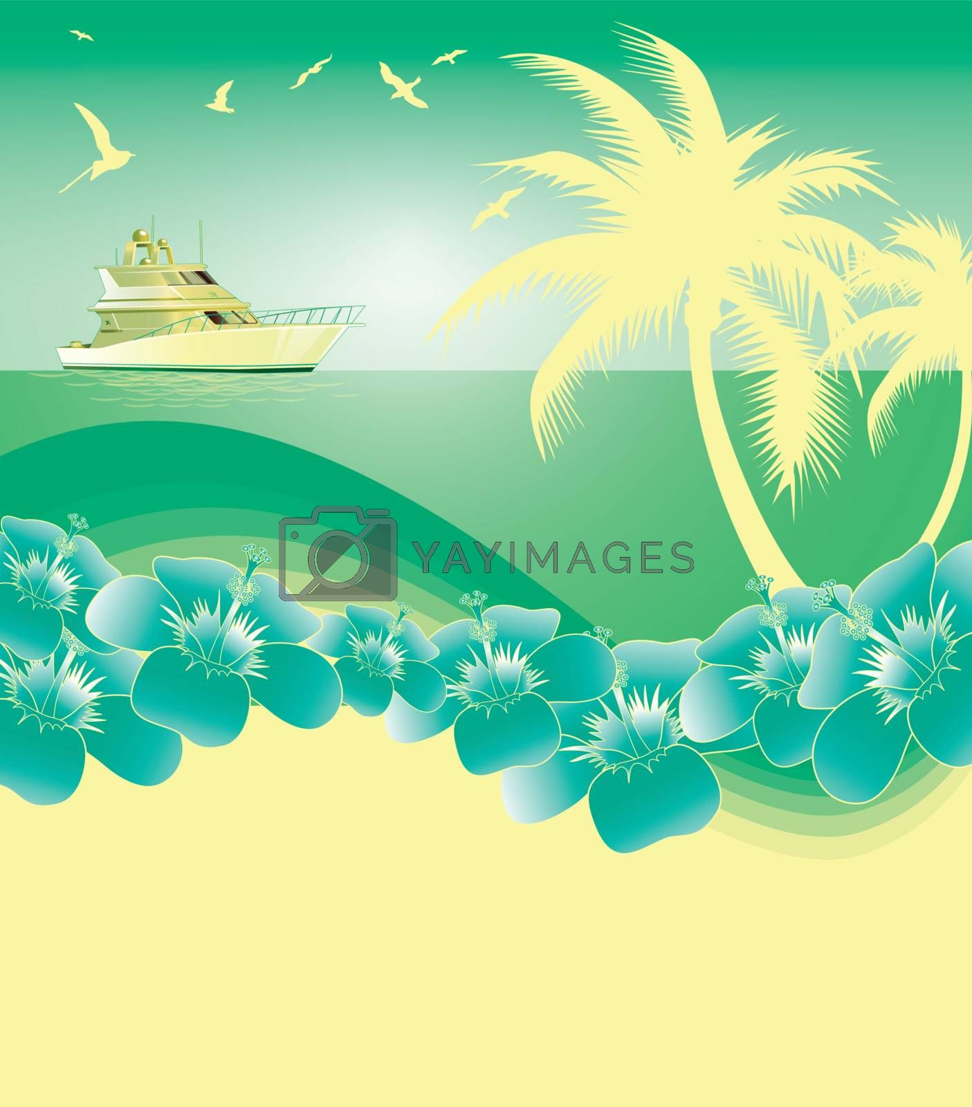 green and yellowTropical summer background
