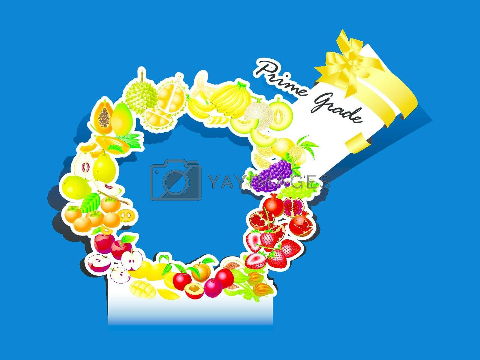 paper cut  mix fruit prime grade