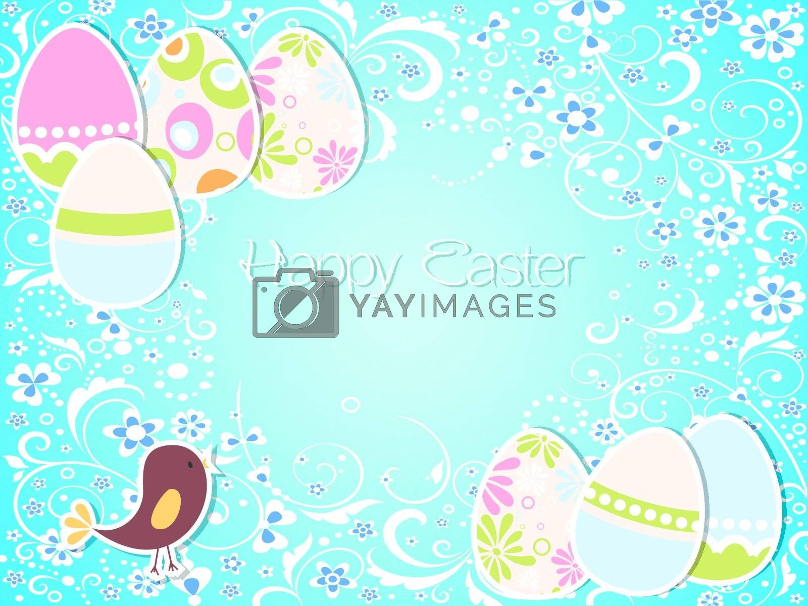 Vector Easter holiday background and card