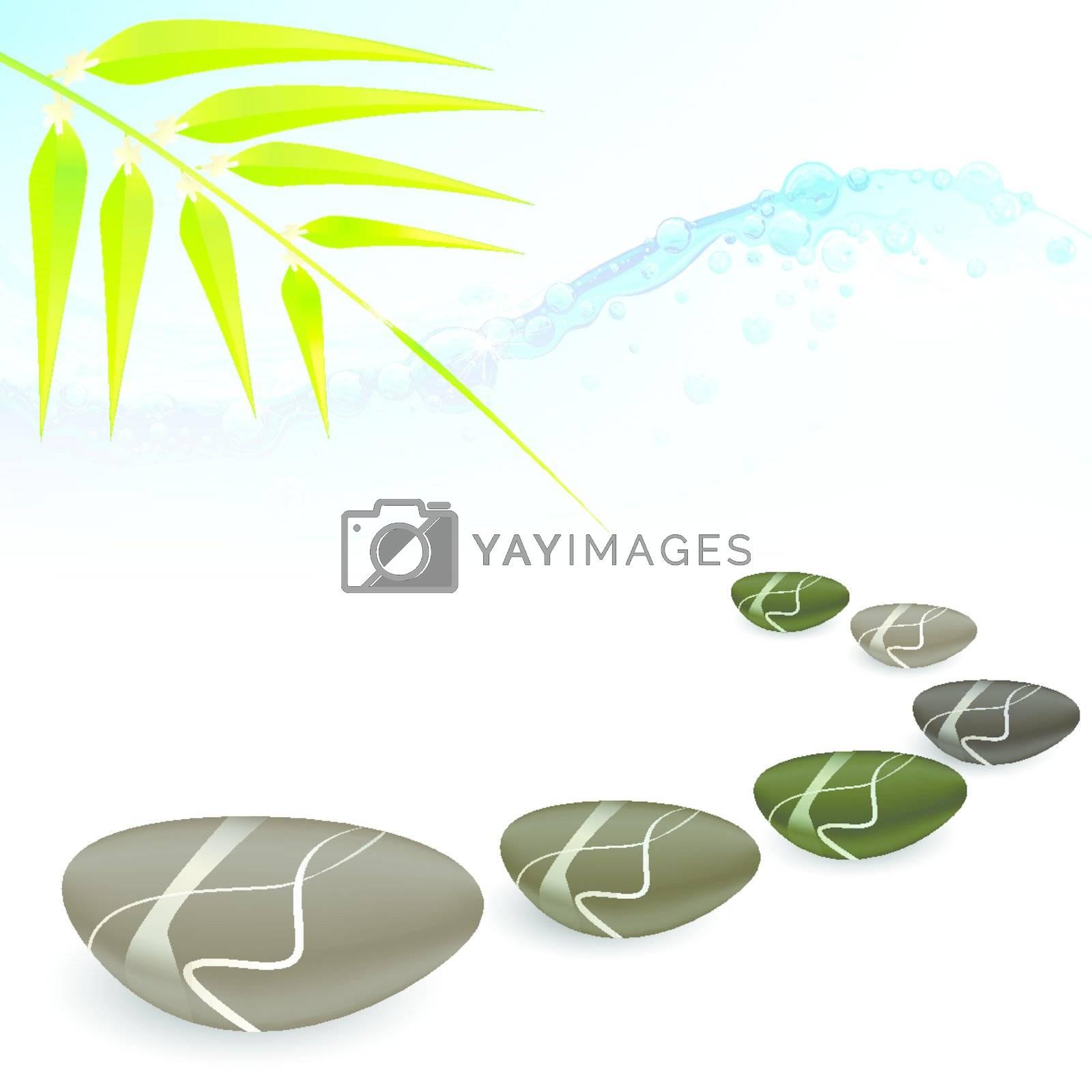 Royalty free image of spa concept zen basalt stones by nirots