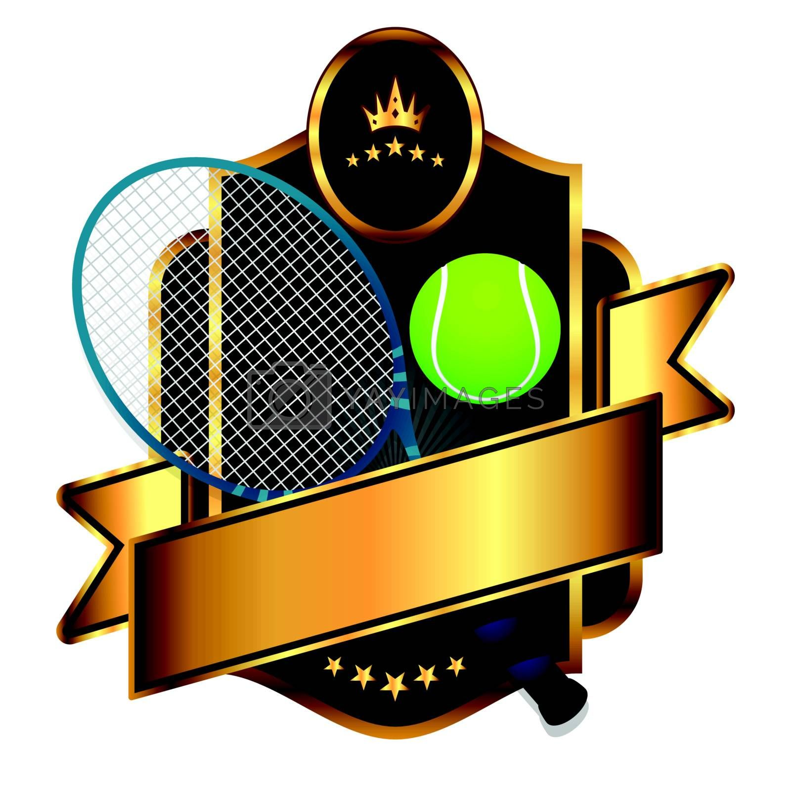 Emblem of sport tennis emblem