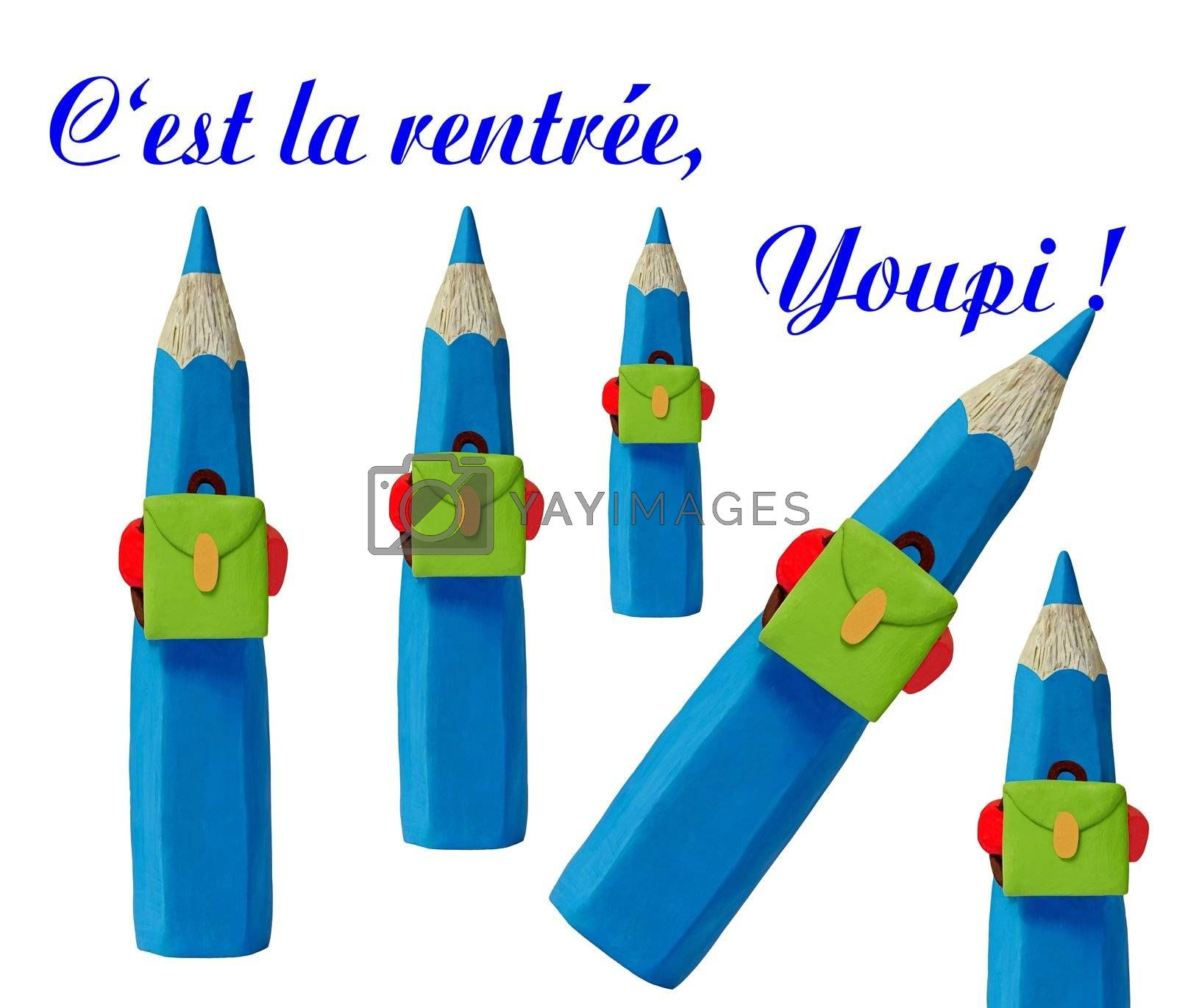It is the comeback. Start of the school year of the blue pencils