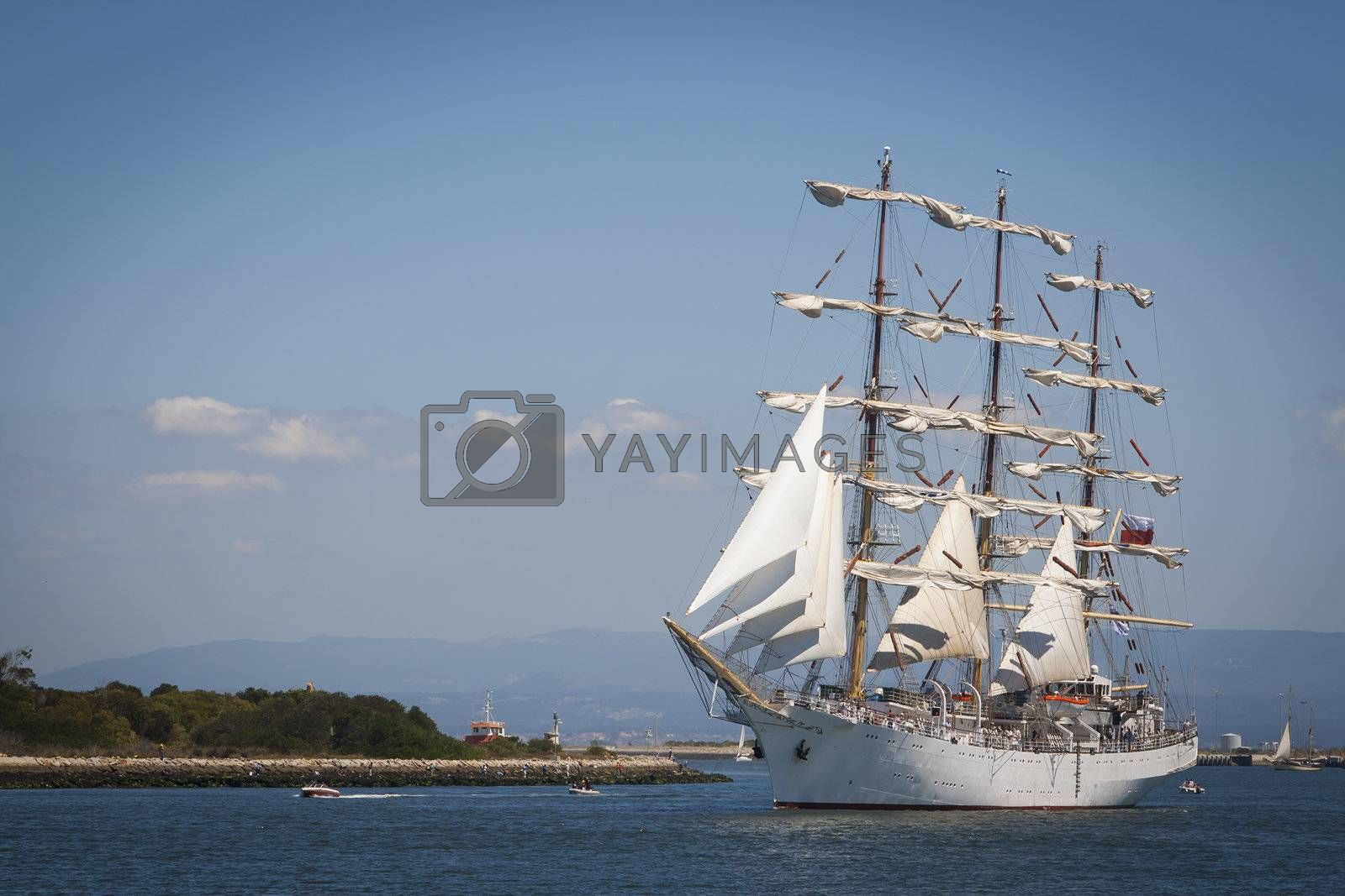 Tall Ship at the sea fest in Ilhavo City - Portugal