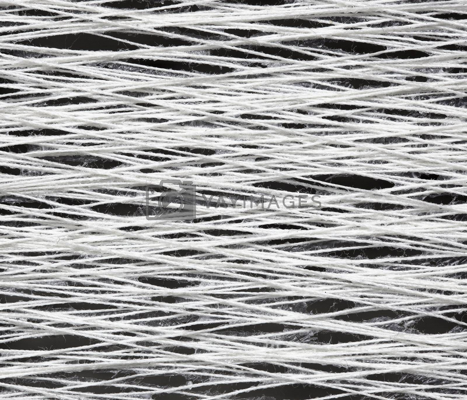 The texture of the yarn with glue - close-up