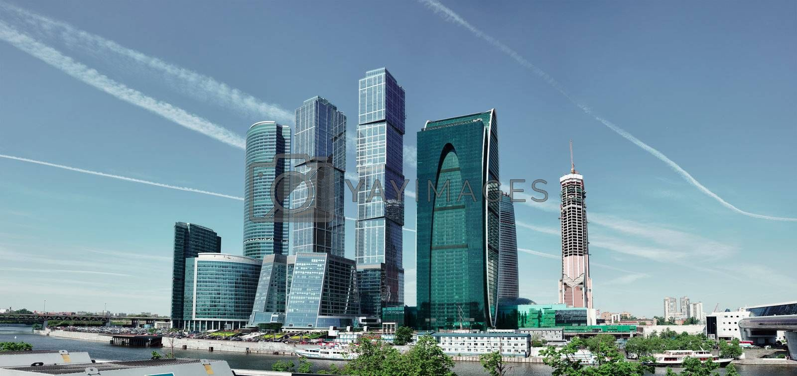 Modern architecture in Moscow - skyscrapers