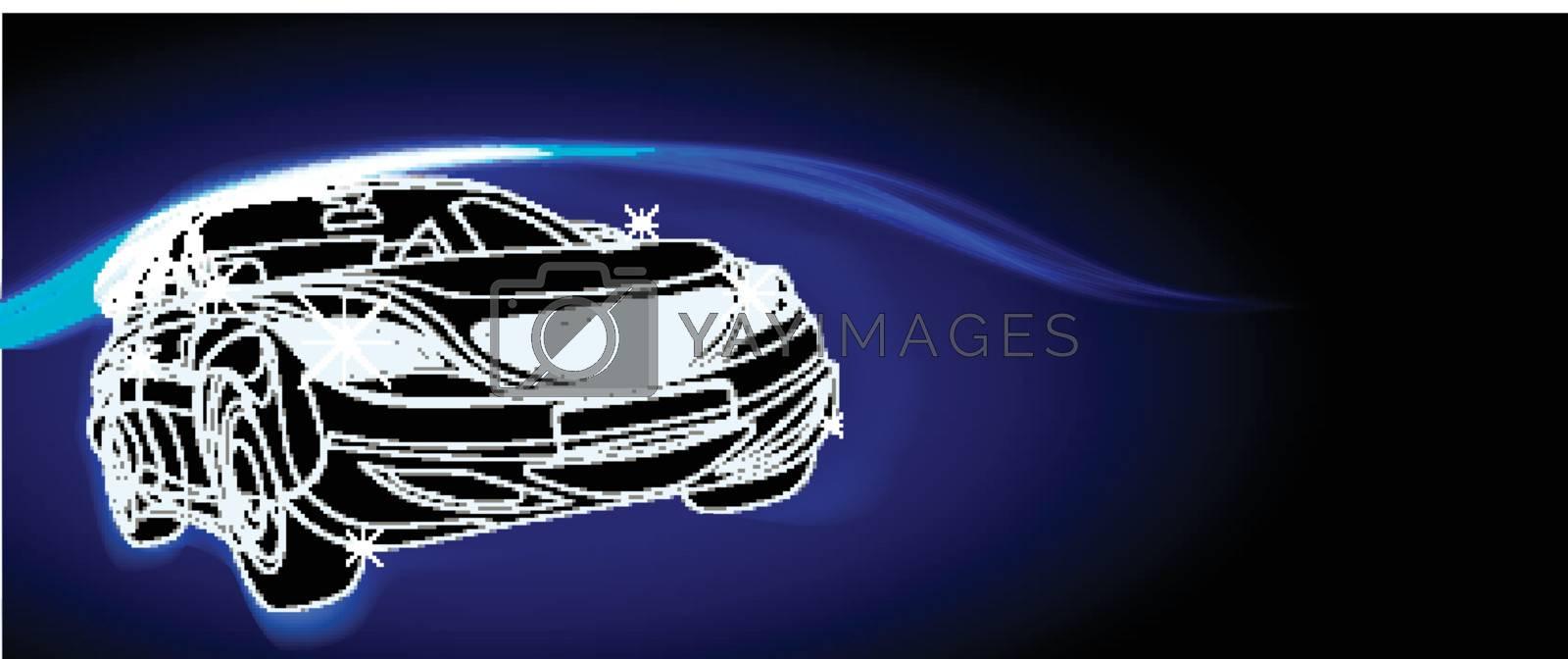 car racing design in black background