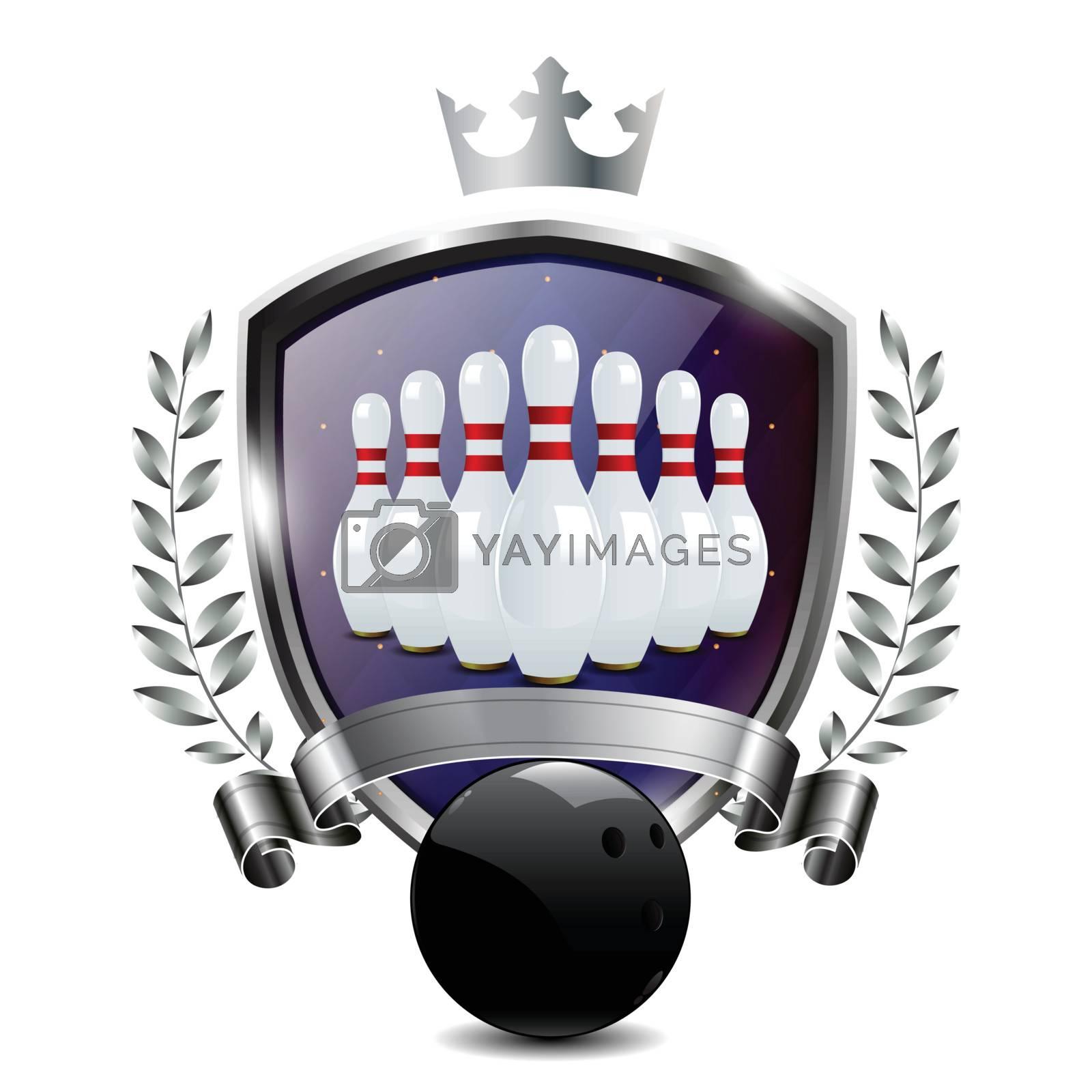 Emblem of sport champion Bowling