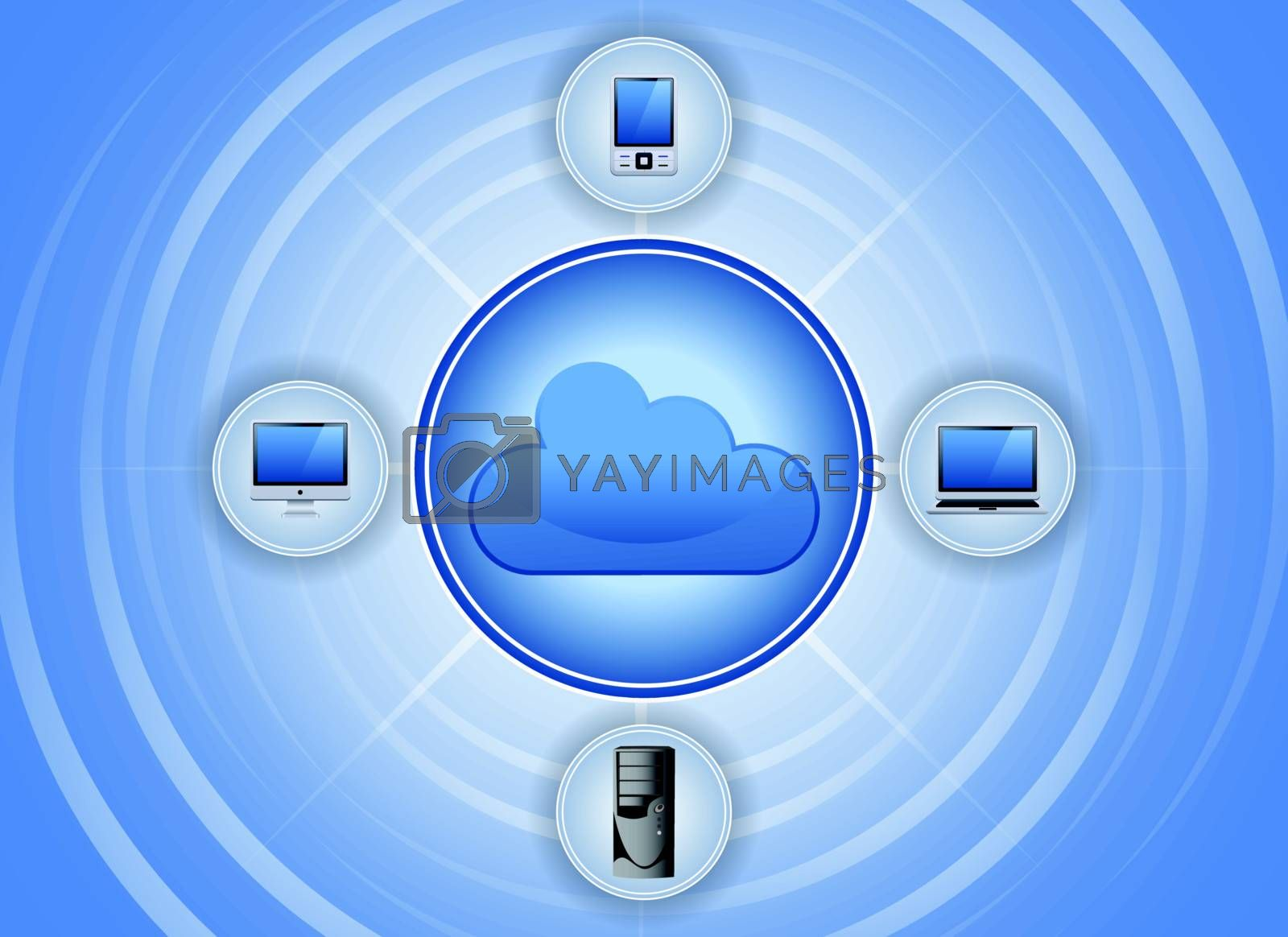 cloud computing network background