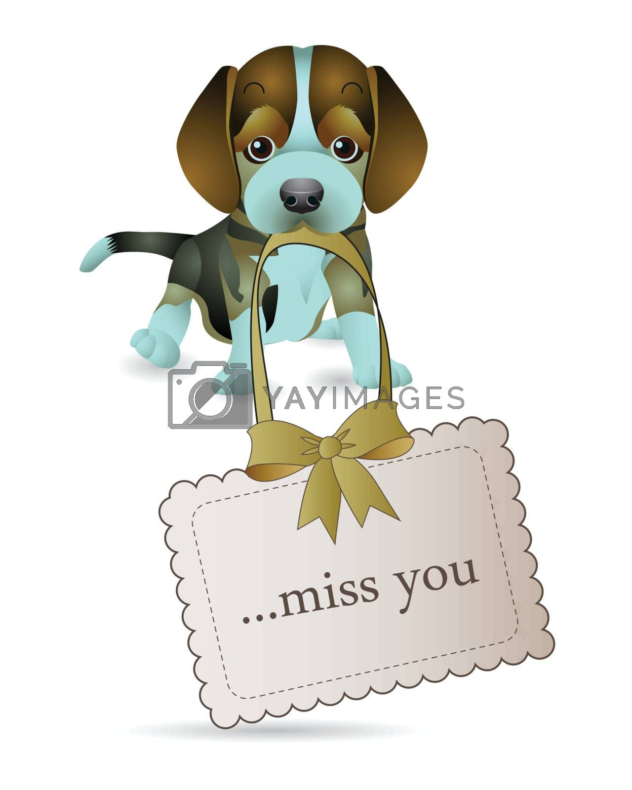The dogs are telling miss you