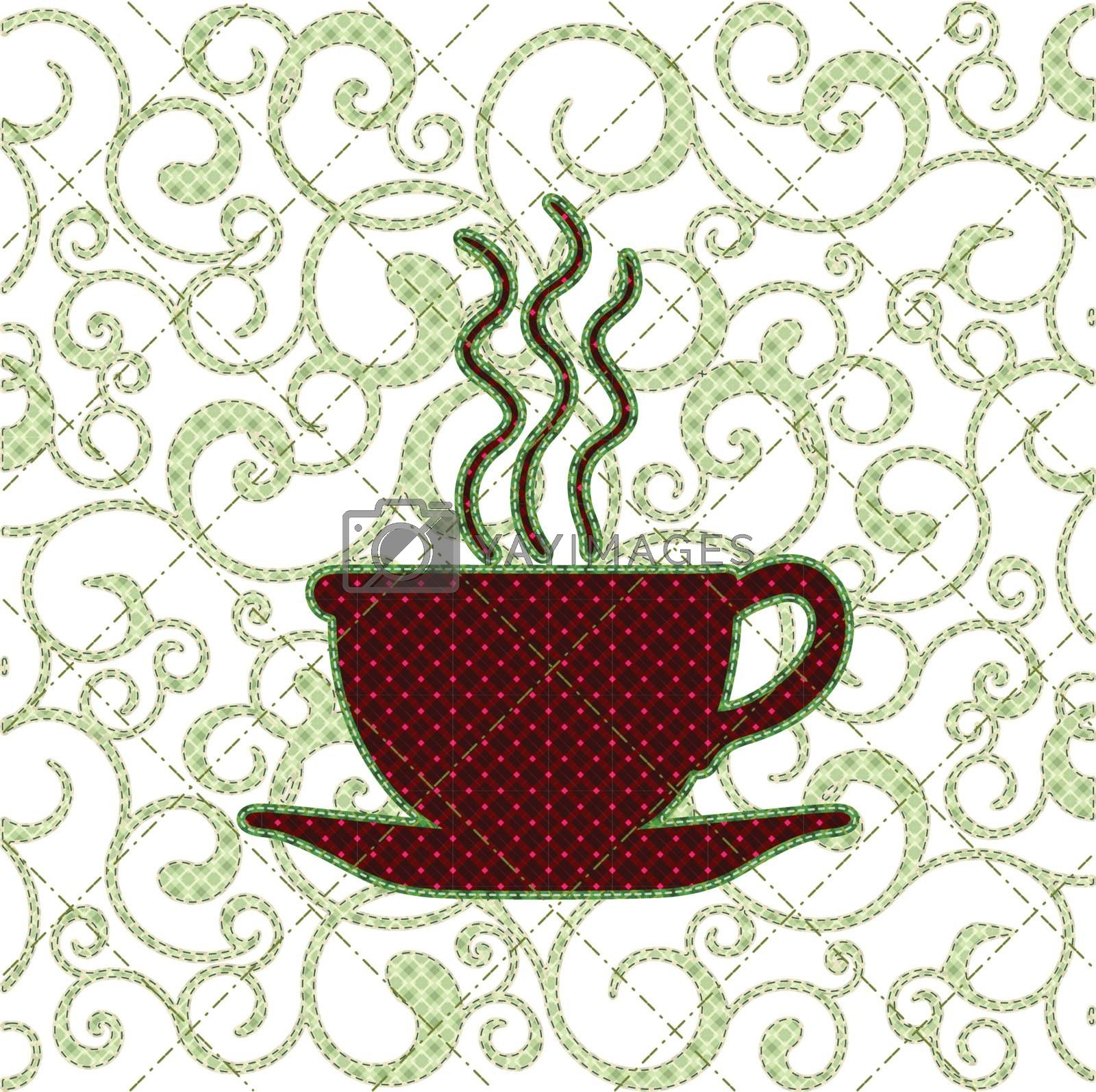 Illustrations patchwork of Coffee cup