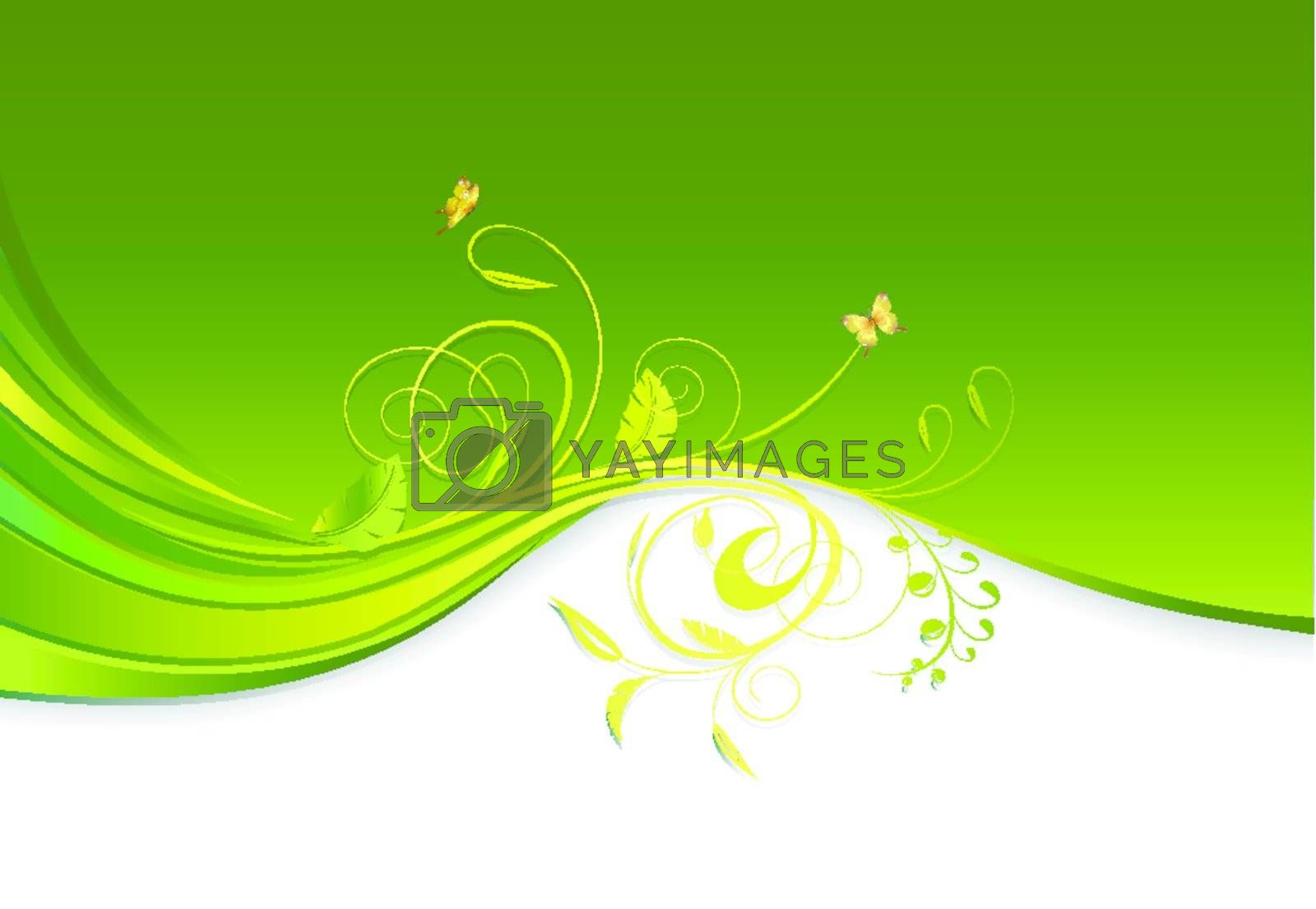 floral ornament design with copy space