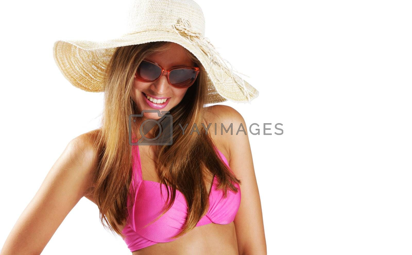 Summer time: Young woman portrait