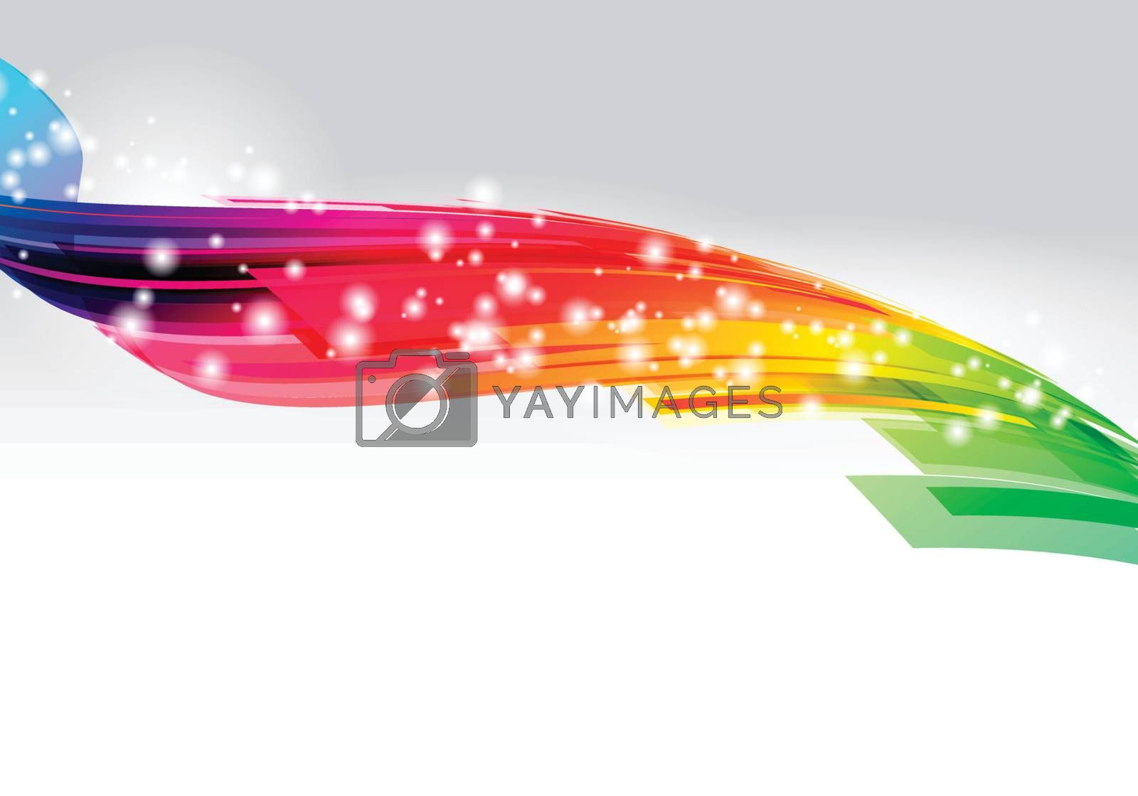 Colorful Background Design on white Background