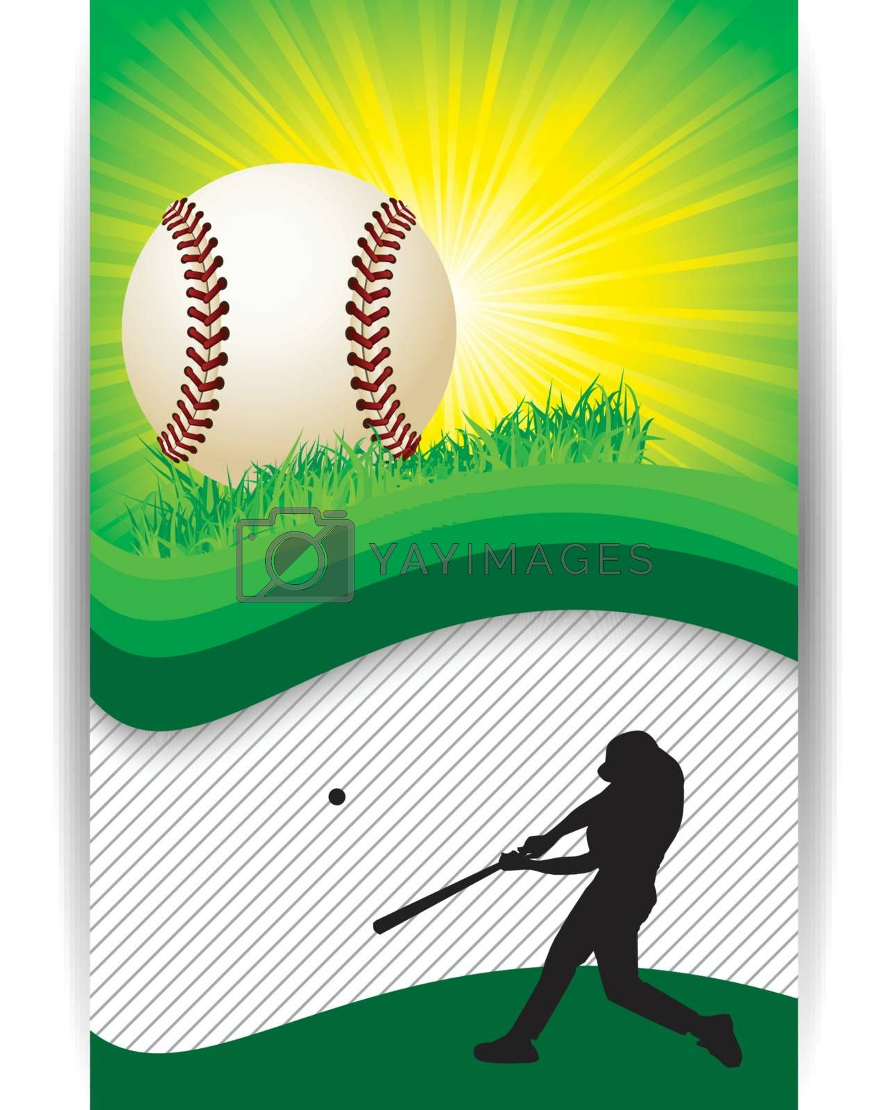 Baseball Banner Background with copy space