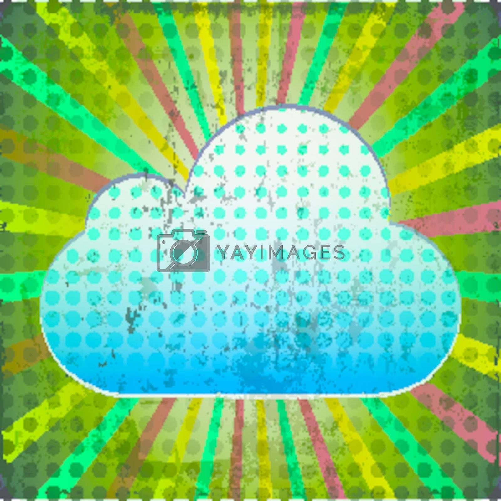 cloud computing network grunge background