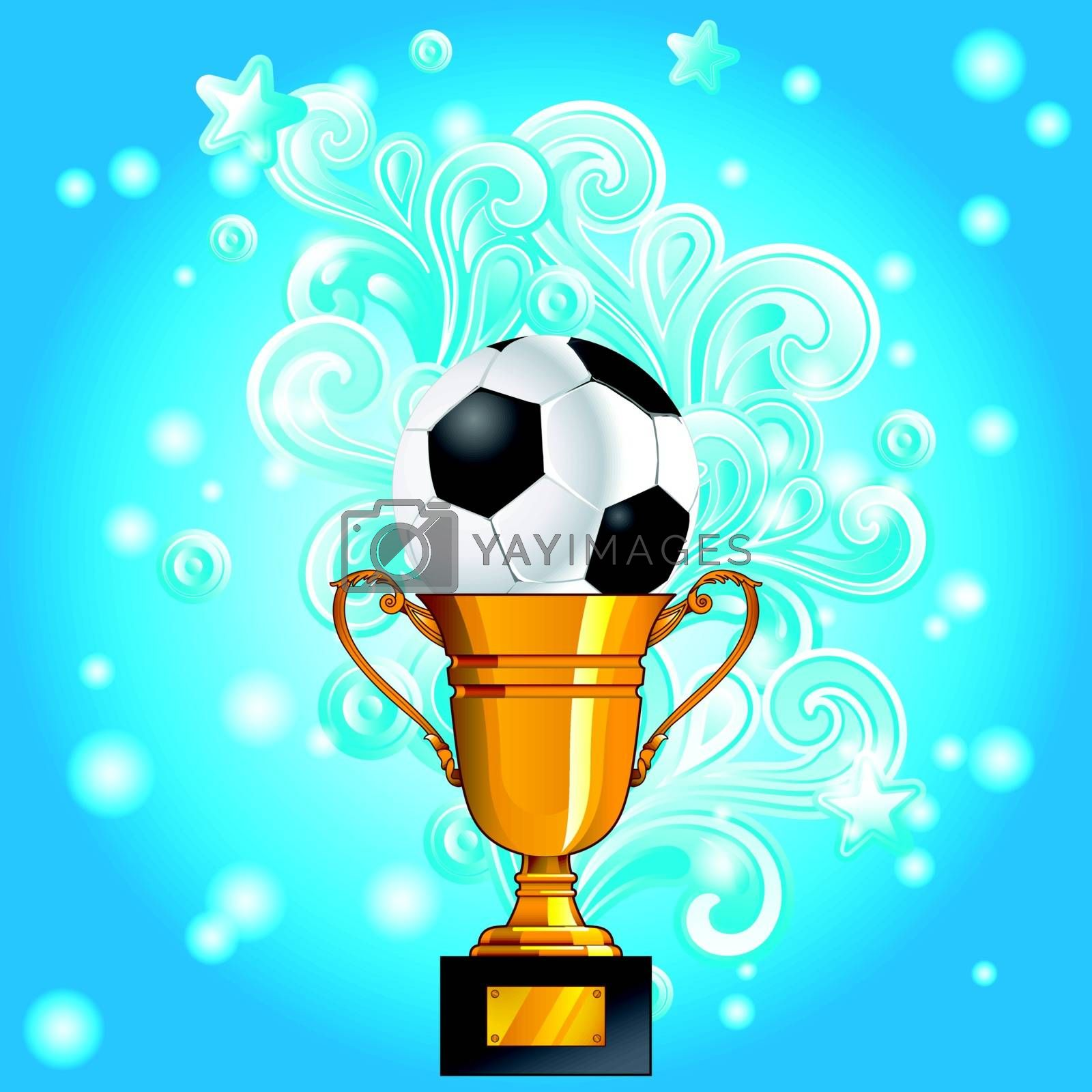 Football Gold Cup Splash Element background