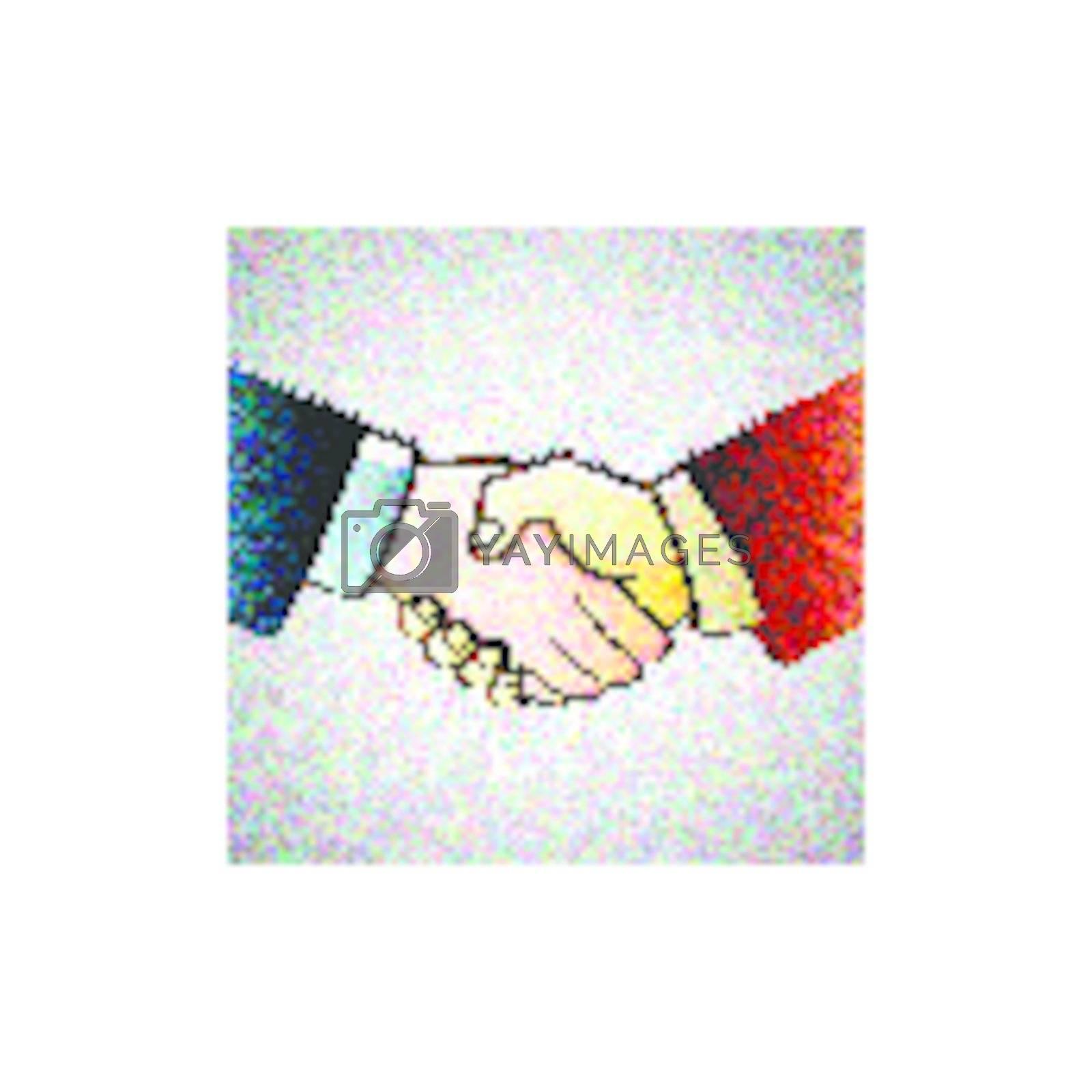 illustration hand shake of partners