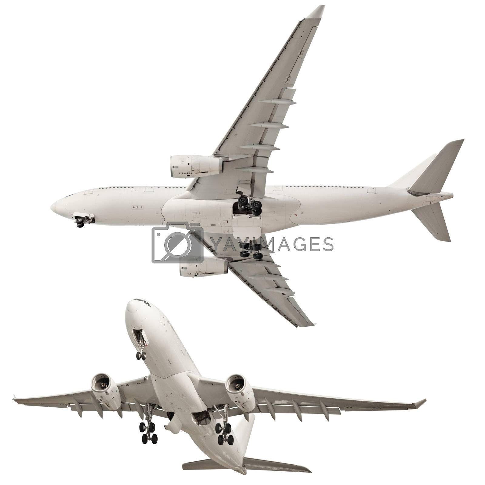 Airplane isolated on white background by pzaxe