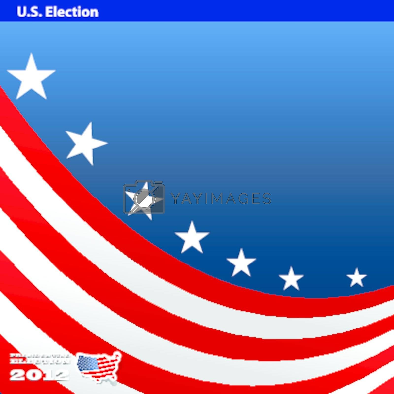 2012 U S  Presidential Election poster and background