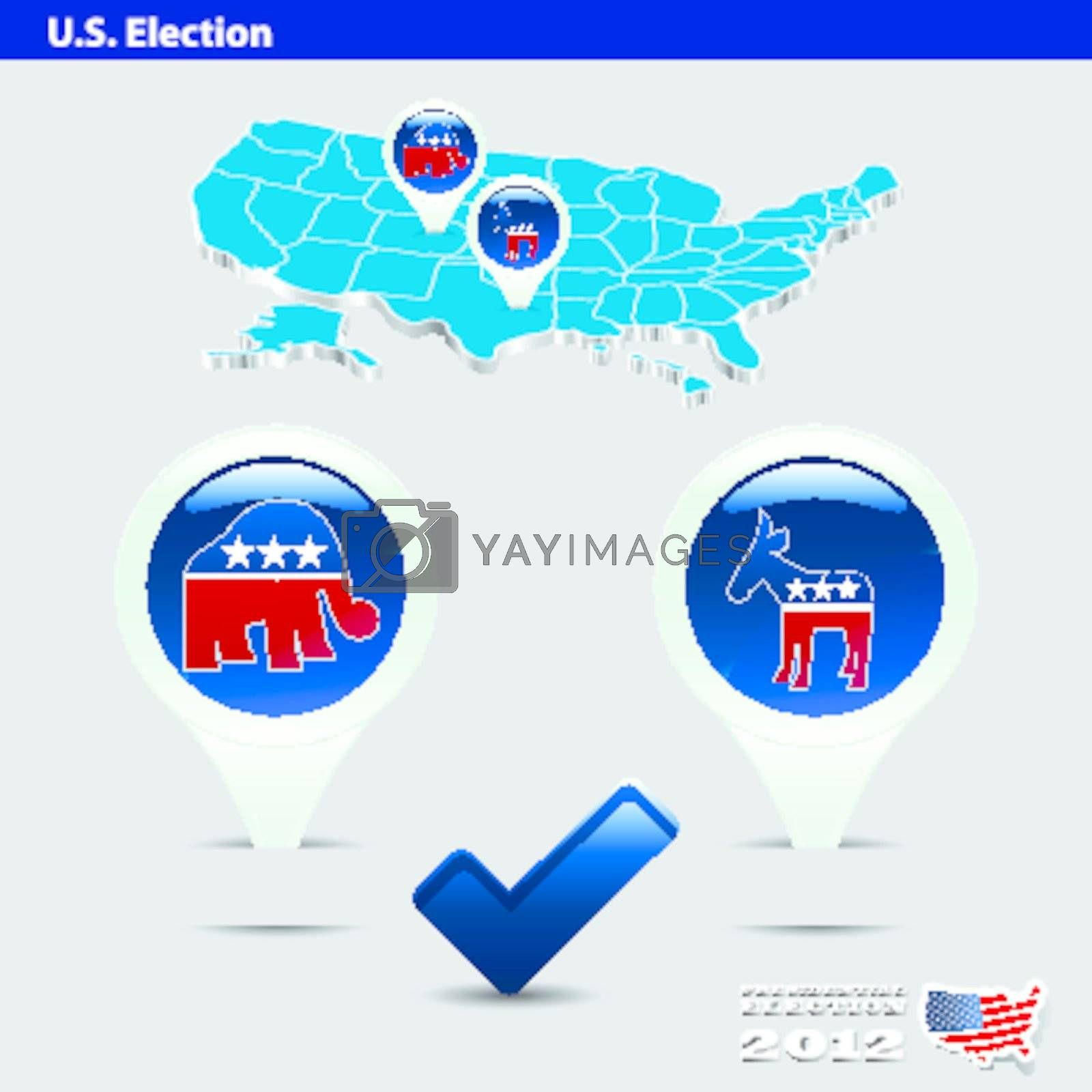 pin democrat or republican in US presidential 2012 election