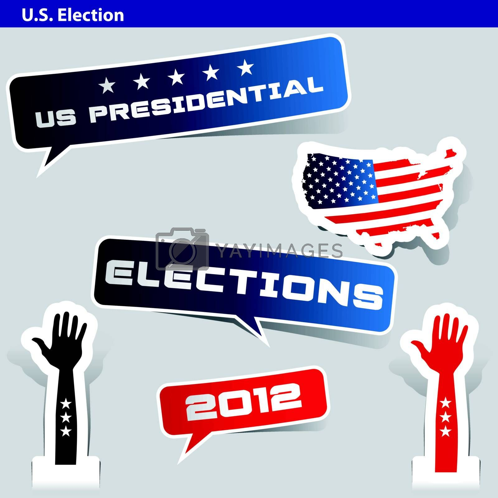 paper cut US presidential 2012 election