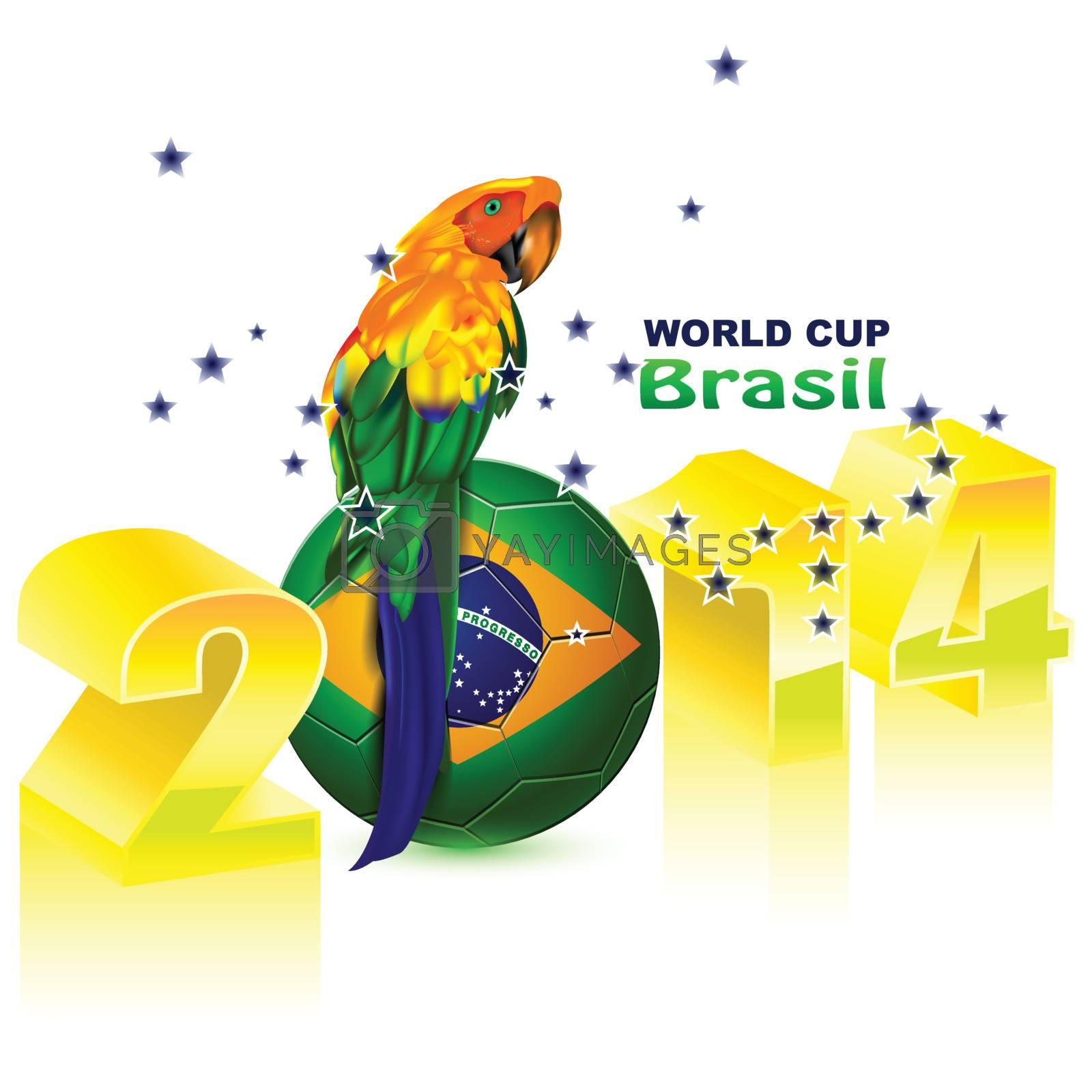 Poster Brazil 2014 soccer Football world cup
