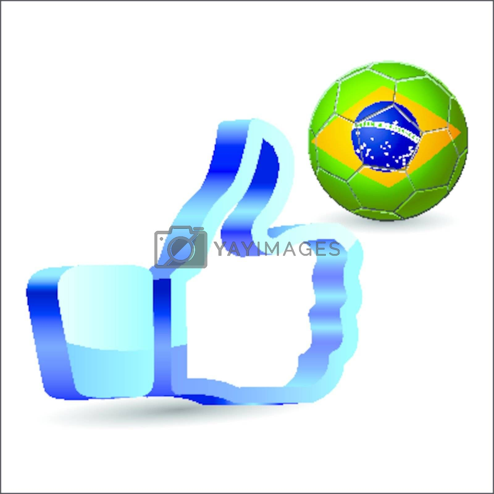 Click like Icon Ball Brazil you are like the team Brasil
