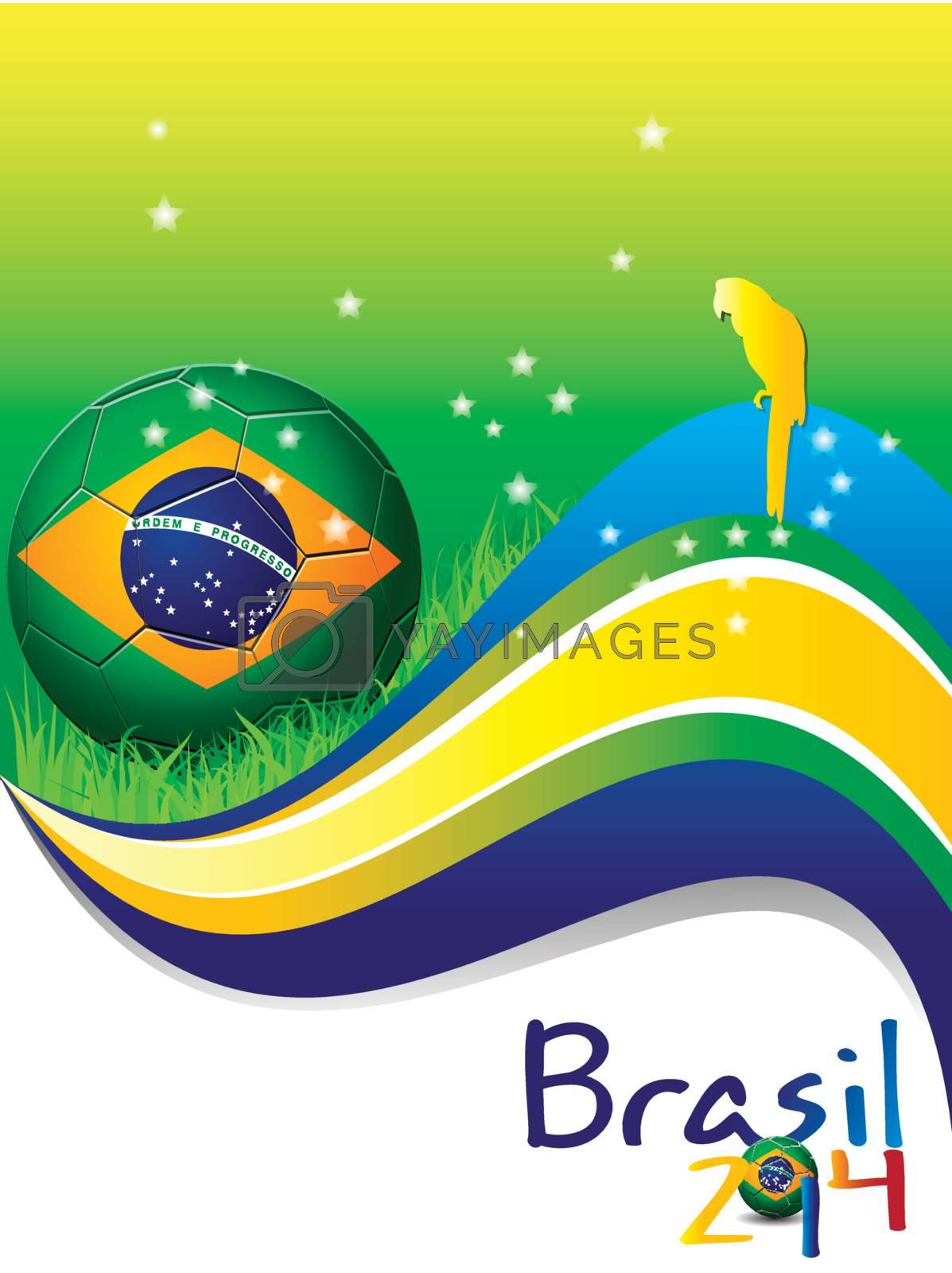 Poster Brazil 2014 soccer Football