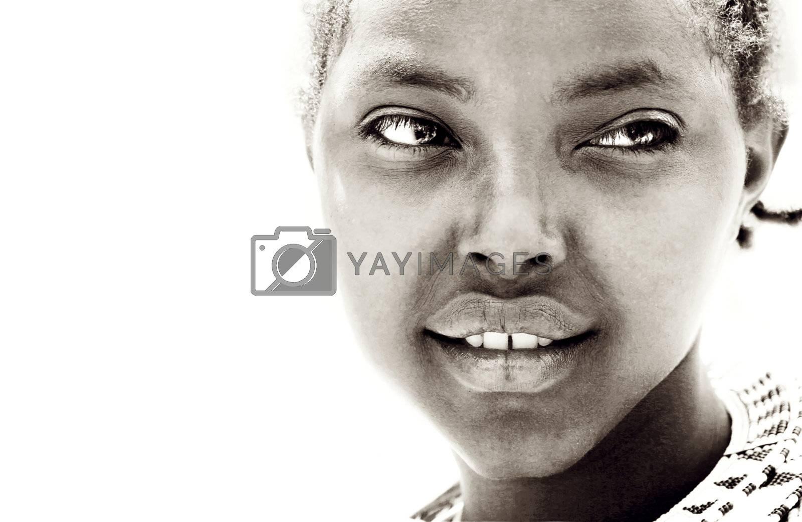African girl portrait by Anna_Omelchenko