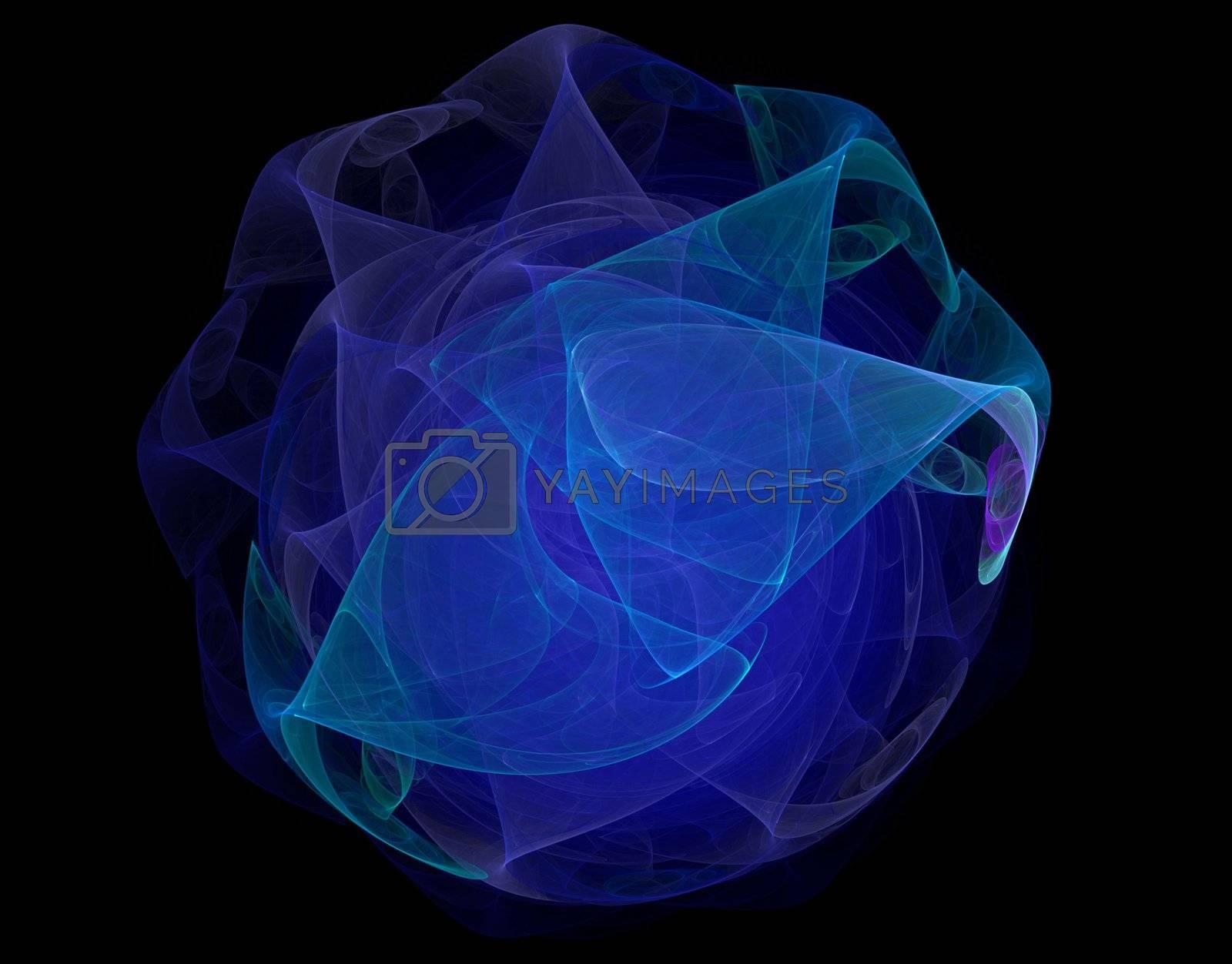 Blue rose - sphere like fractal graphics