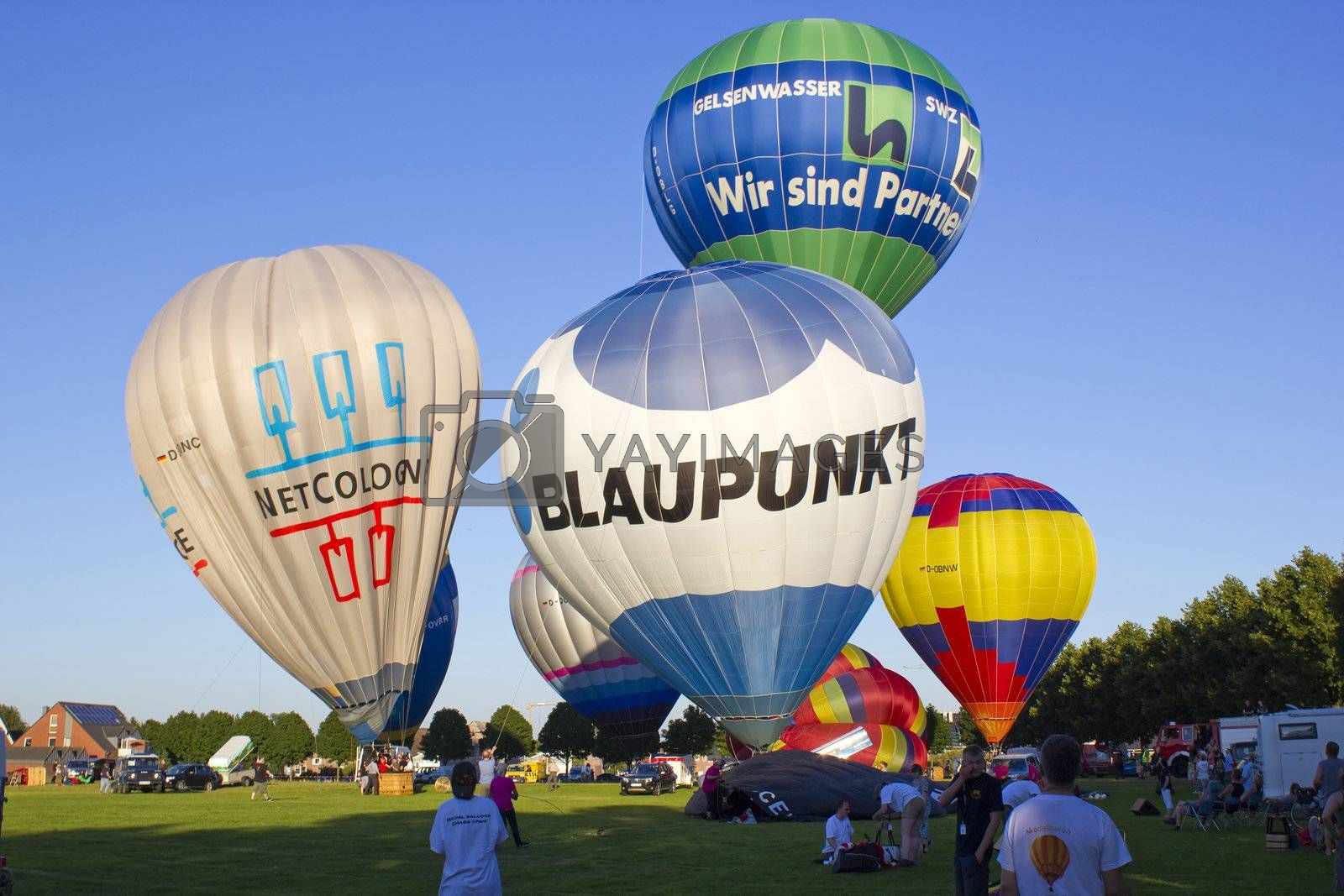 Hot air balloons festival, August 2012, Kevelaer, Germany