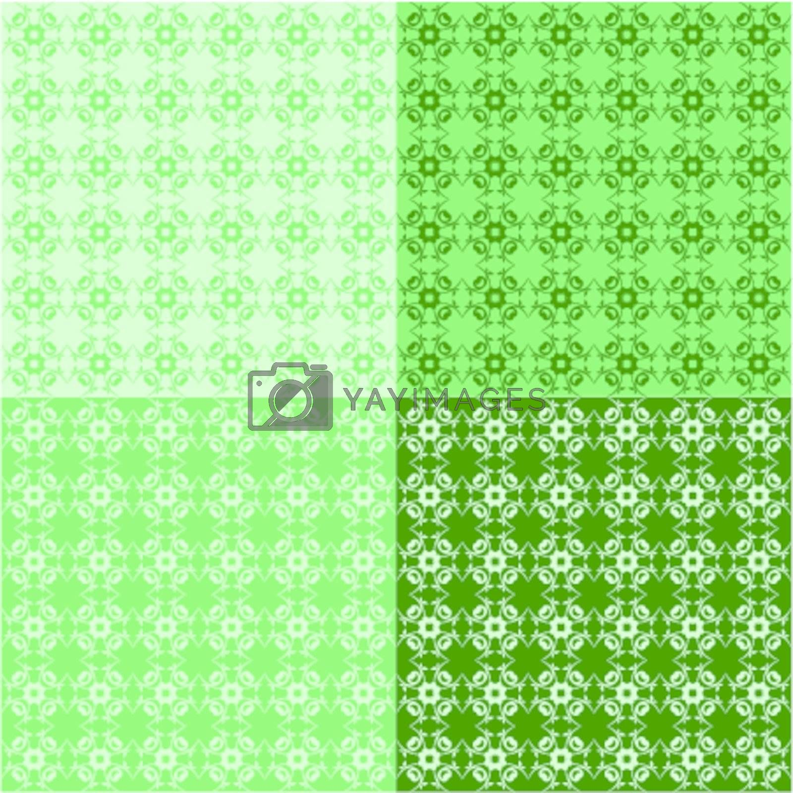set of seamless backgrounds with ornaments