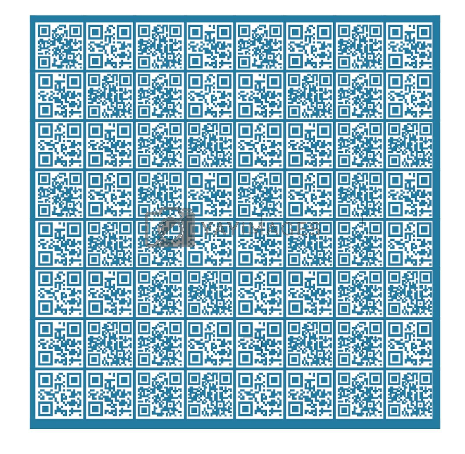Abstract QR Code Background (Words: Love, Tenderness, Passion, Care)