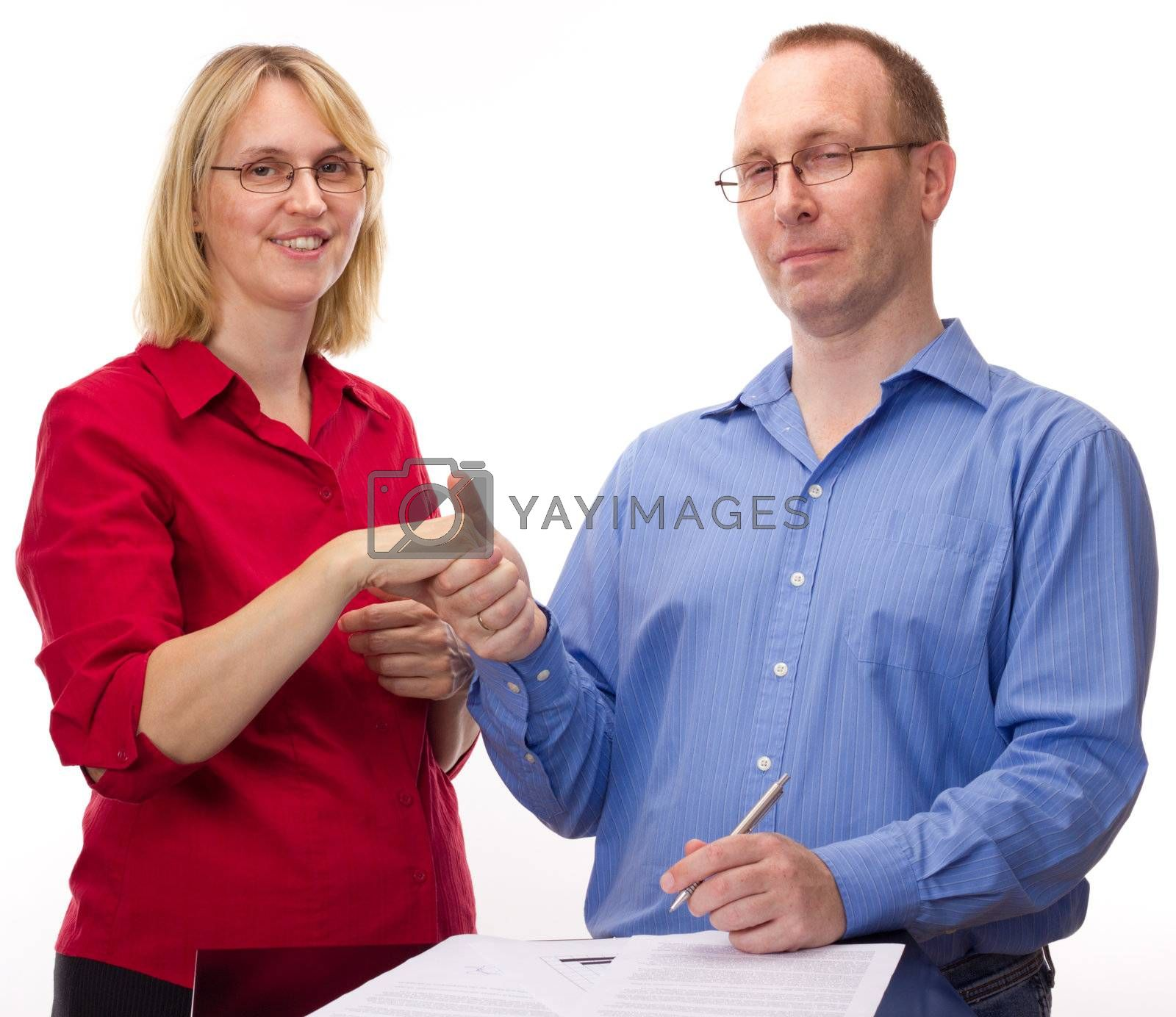 Person signing of an agreement