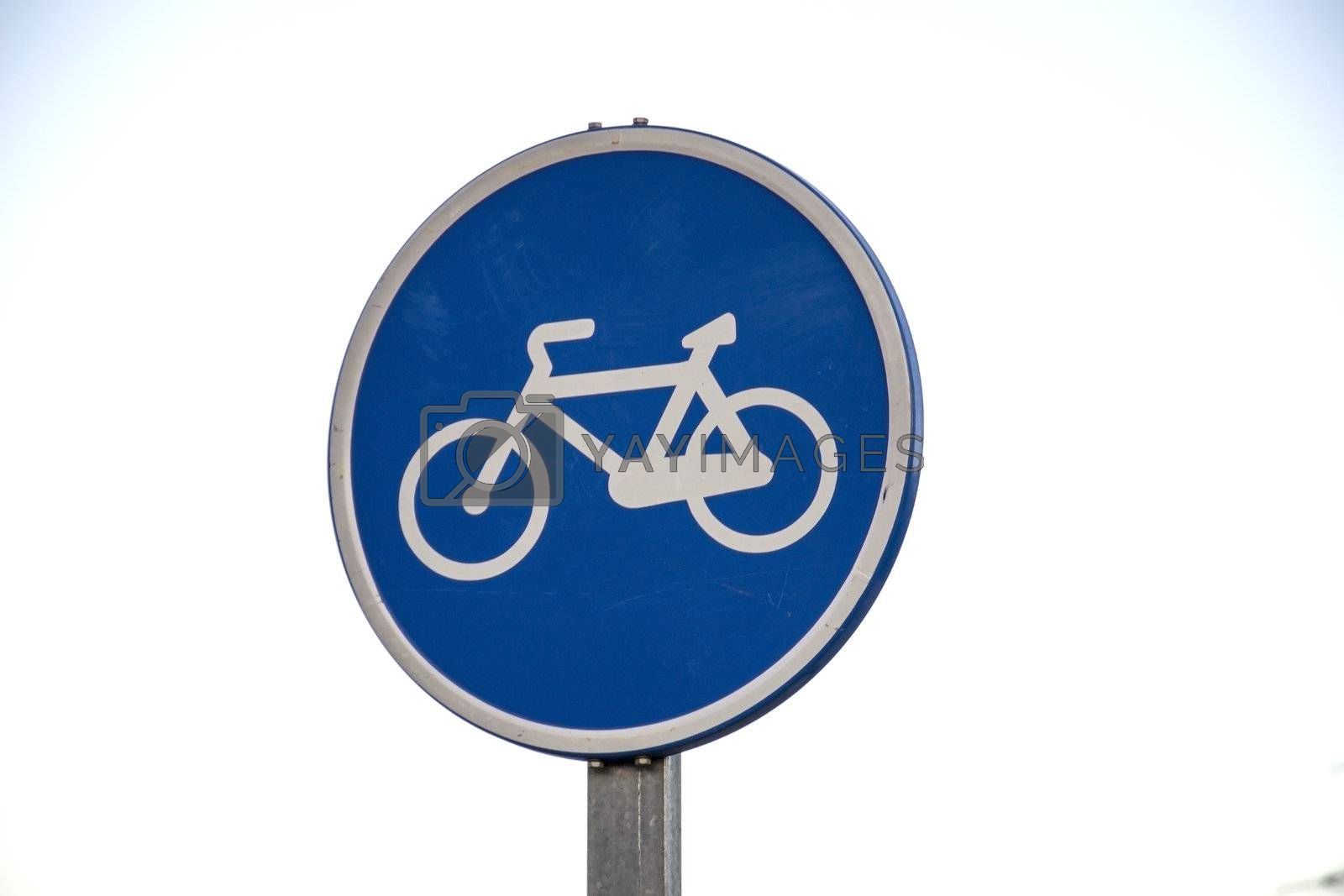 The bicycle path signal