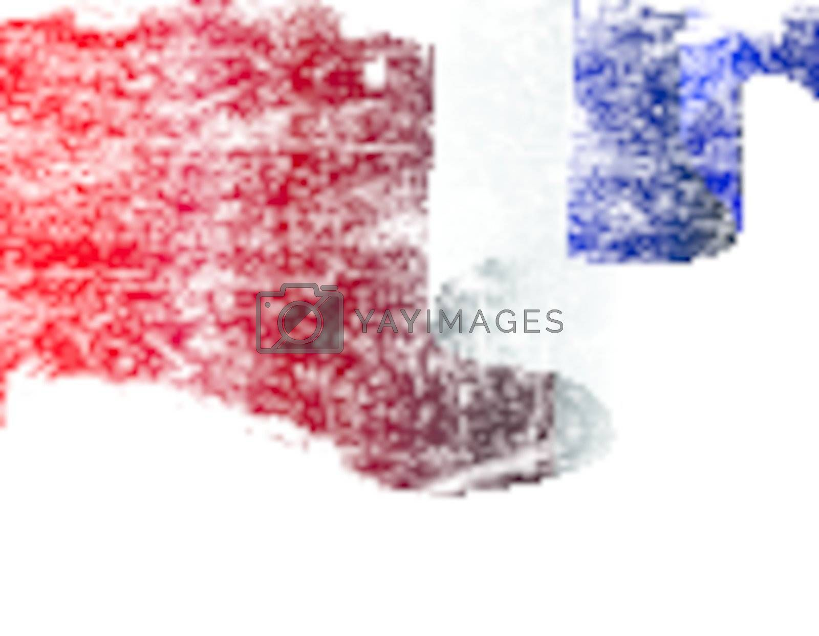 Isolated grunge France flag with copy space