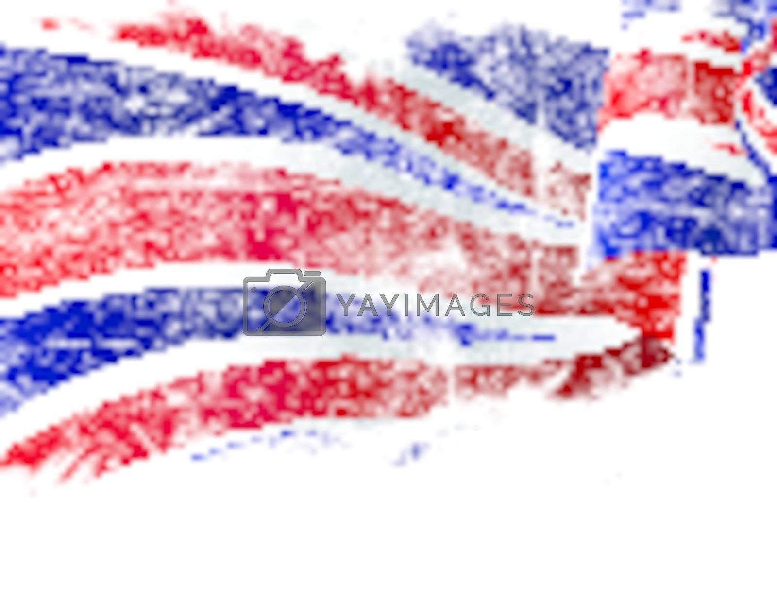 Isolated grunge United Kingdom flag with copy space