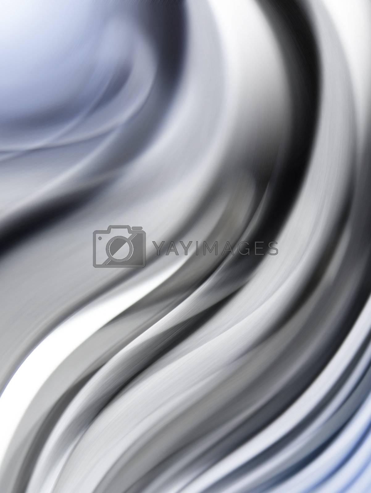 wavy abstract bakground like shining soft metal texture